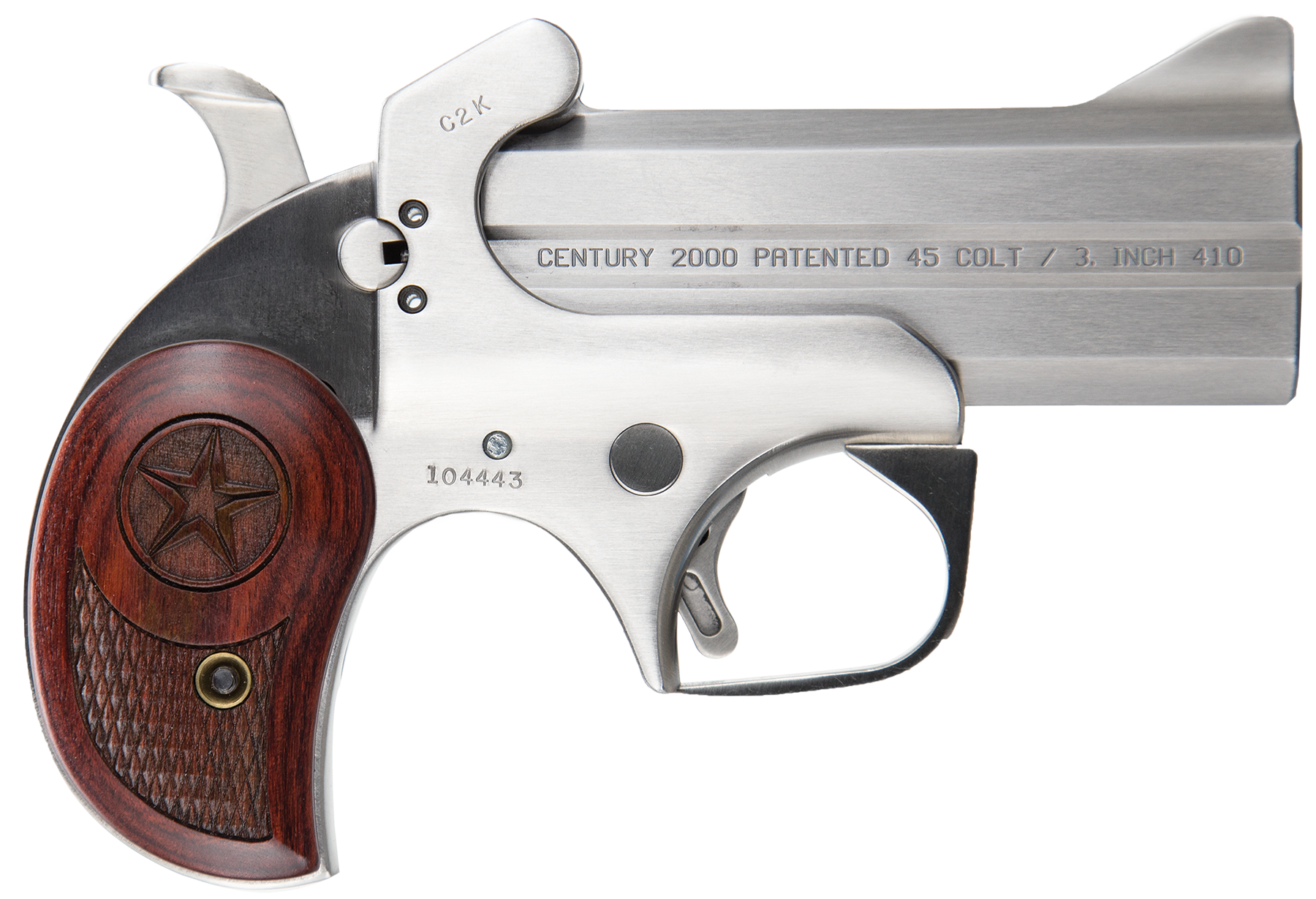 Bond Arms BAC2K Century 2000 Derringer Single 45 Colt (LC)/410 Gauge 3.5