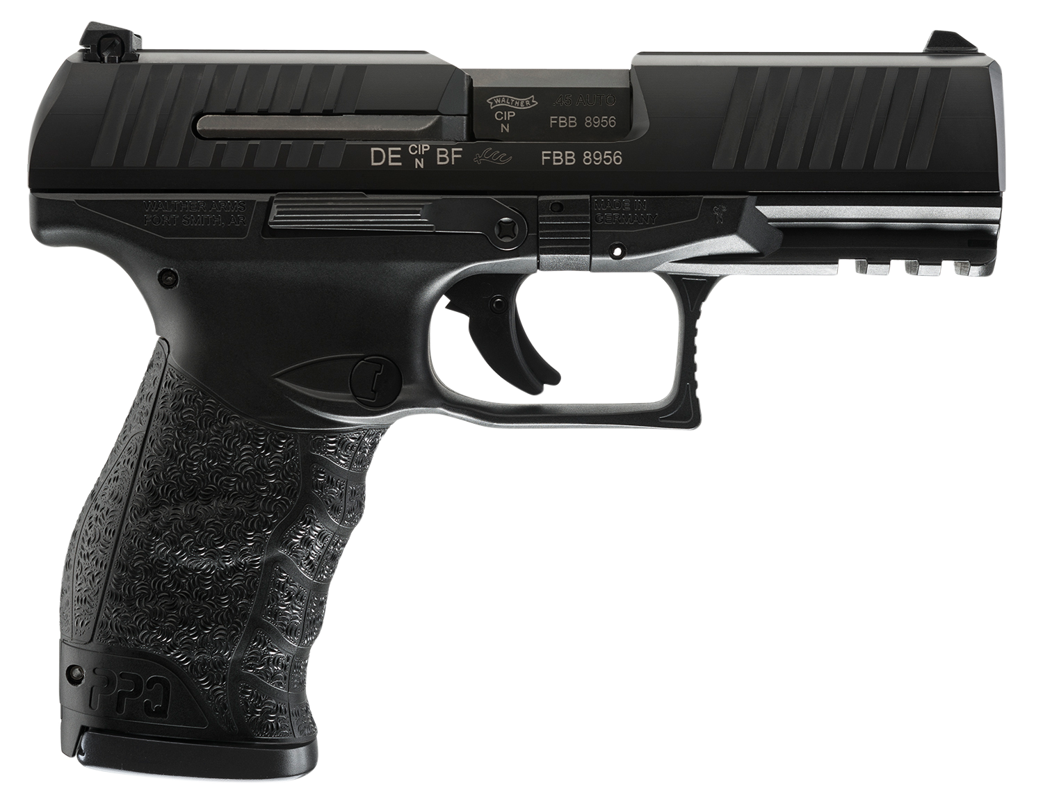 Walther Arms 2807076 PPQ M2  45 Automatic Colt Pistol (ACP) Double 4.25