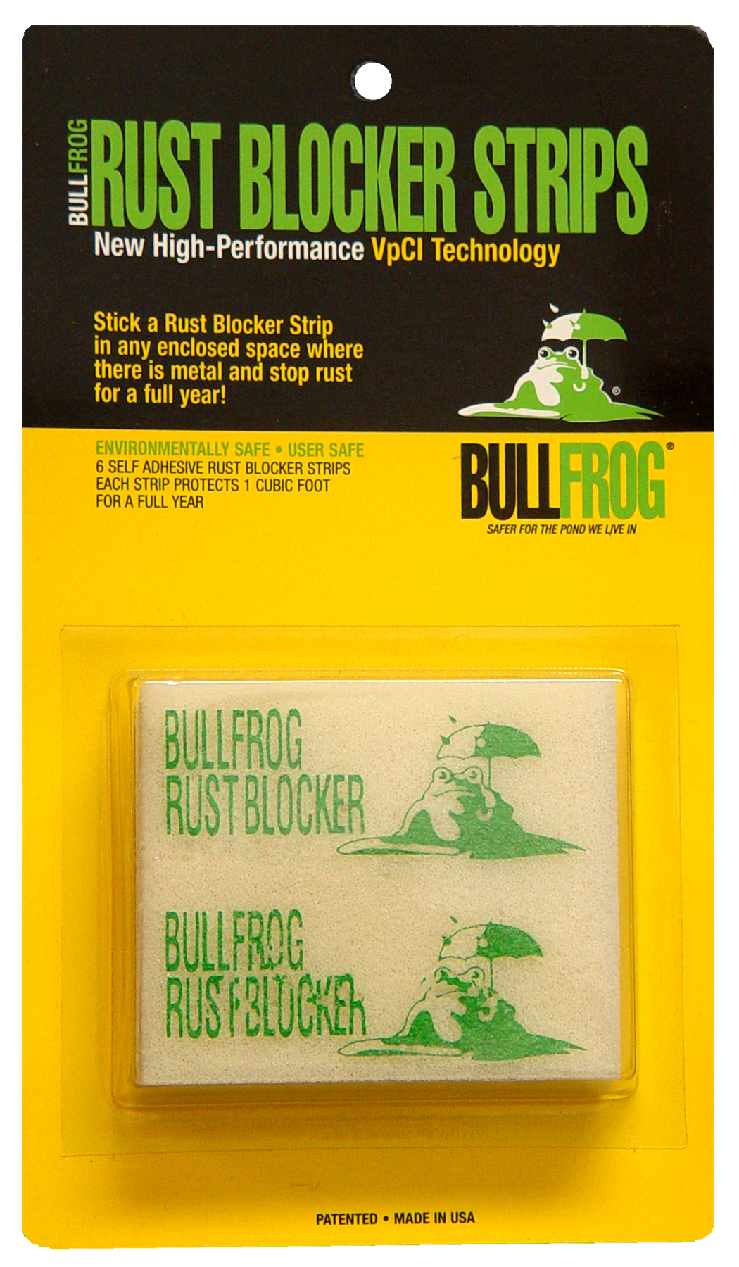 Bull Frog 91016 Rust Blocker Strips Rust Inhibitor Protects 1 cu ft 6Pk