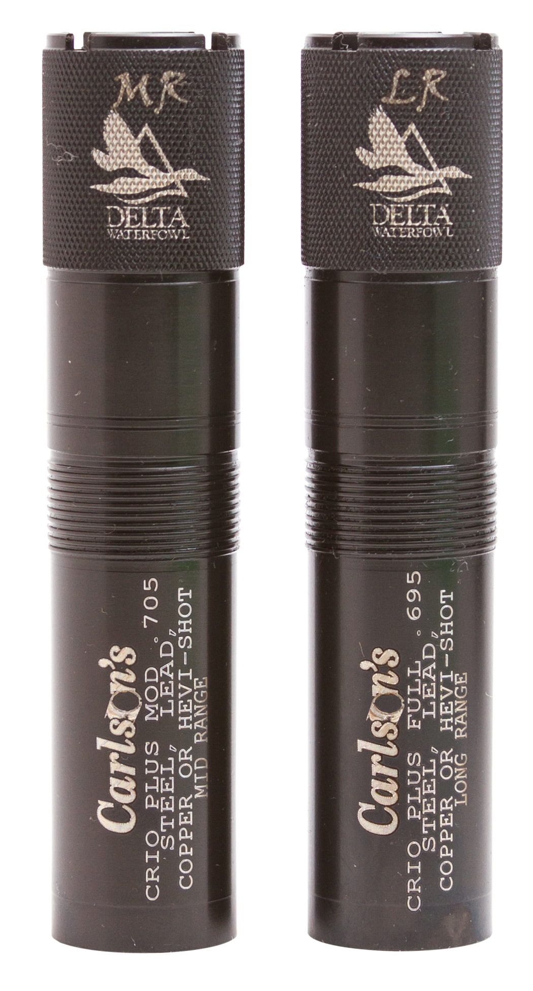 Carlsons 07570 Waterfowl 2-Pack Choke Tubes 12 Ga Mid and Long Range Black