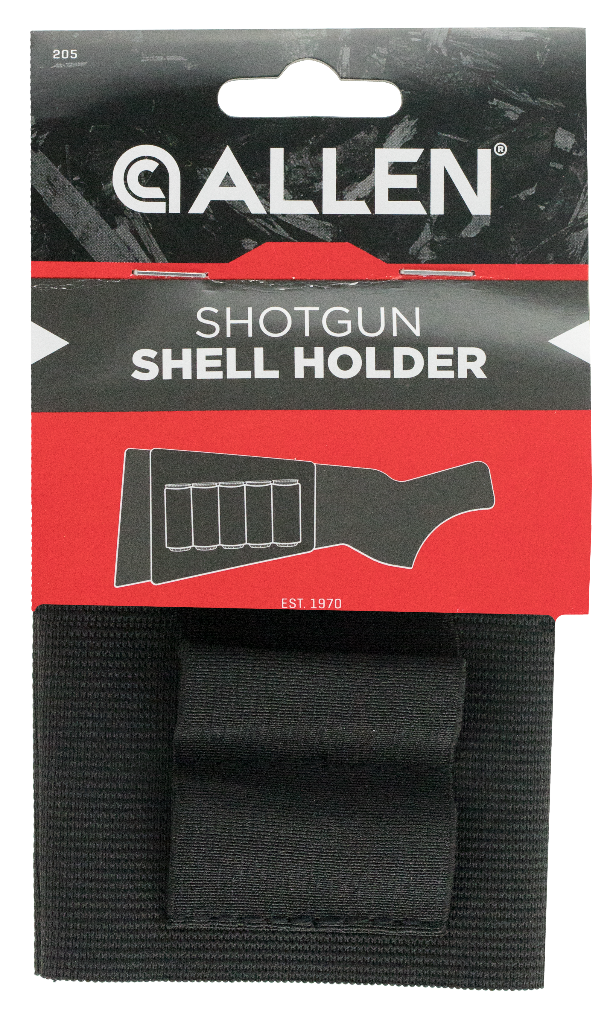Allen 205 Basic Buttstock Shell Holder Shotgun 5 Rds Elastic Black