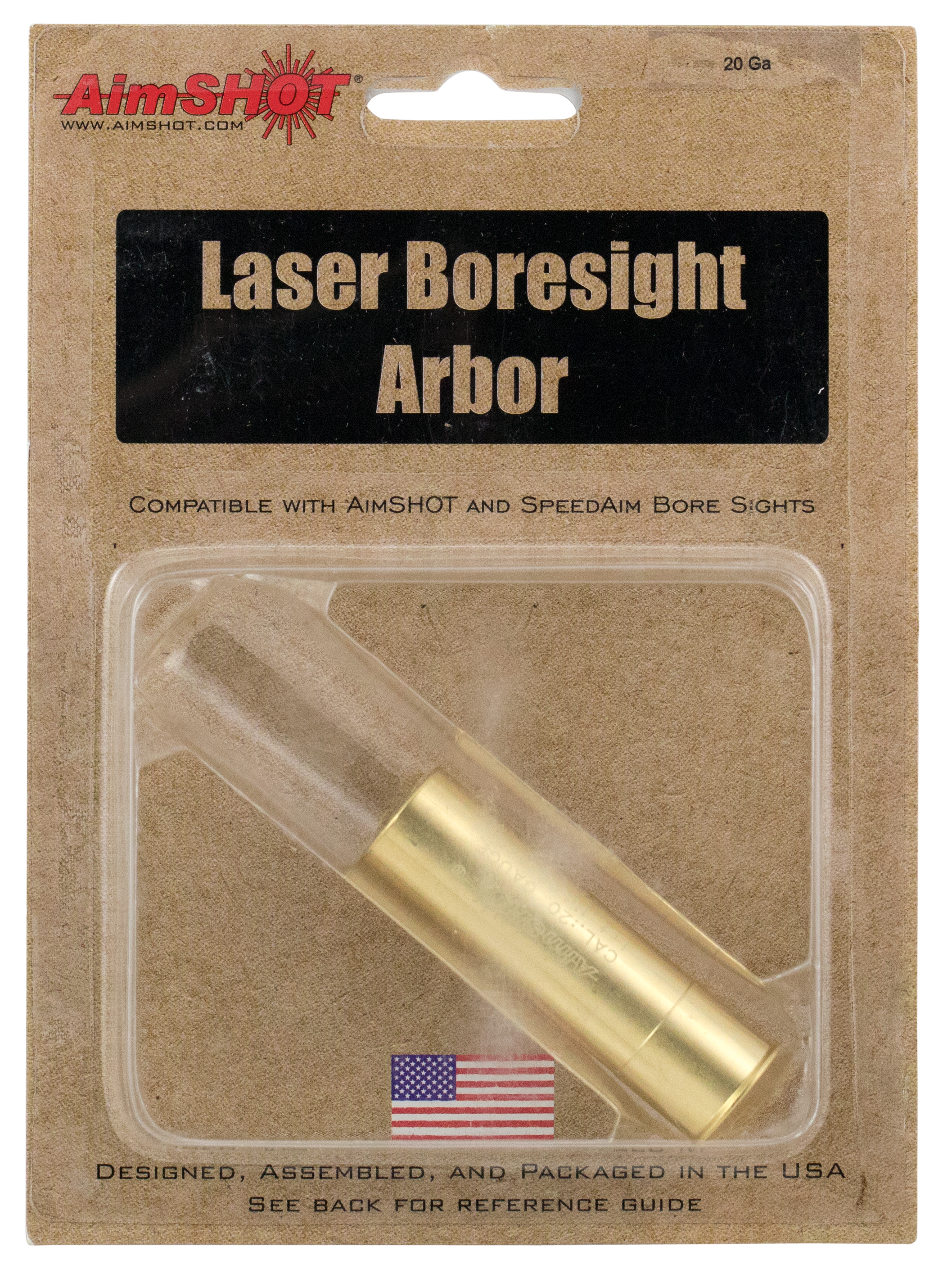 Aimshot AR20GA Arbor 20 Gauge Boresighter Brass