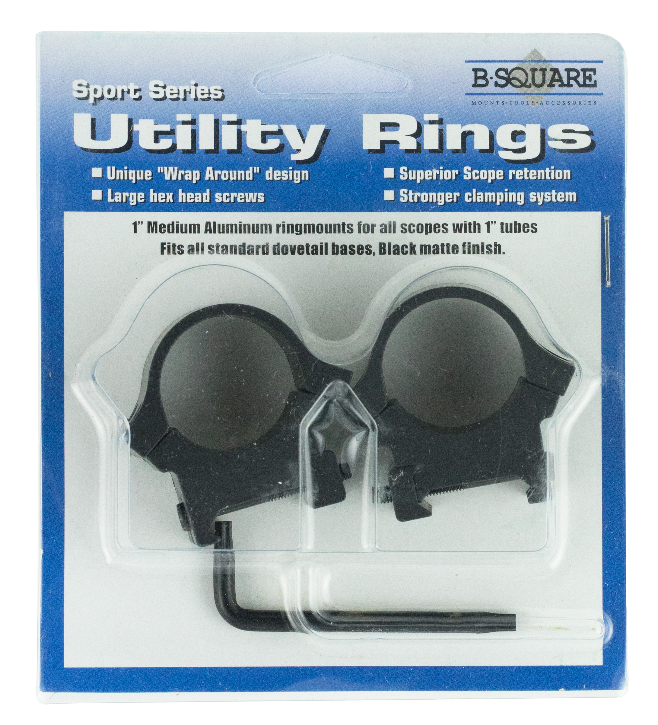 B-Square 20054 Sport Utility Standard Dovetail Ring Set 1