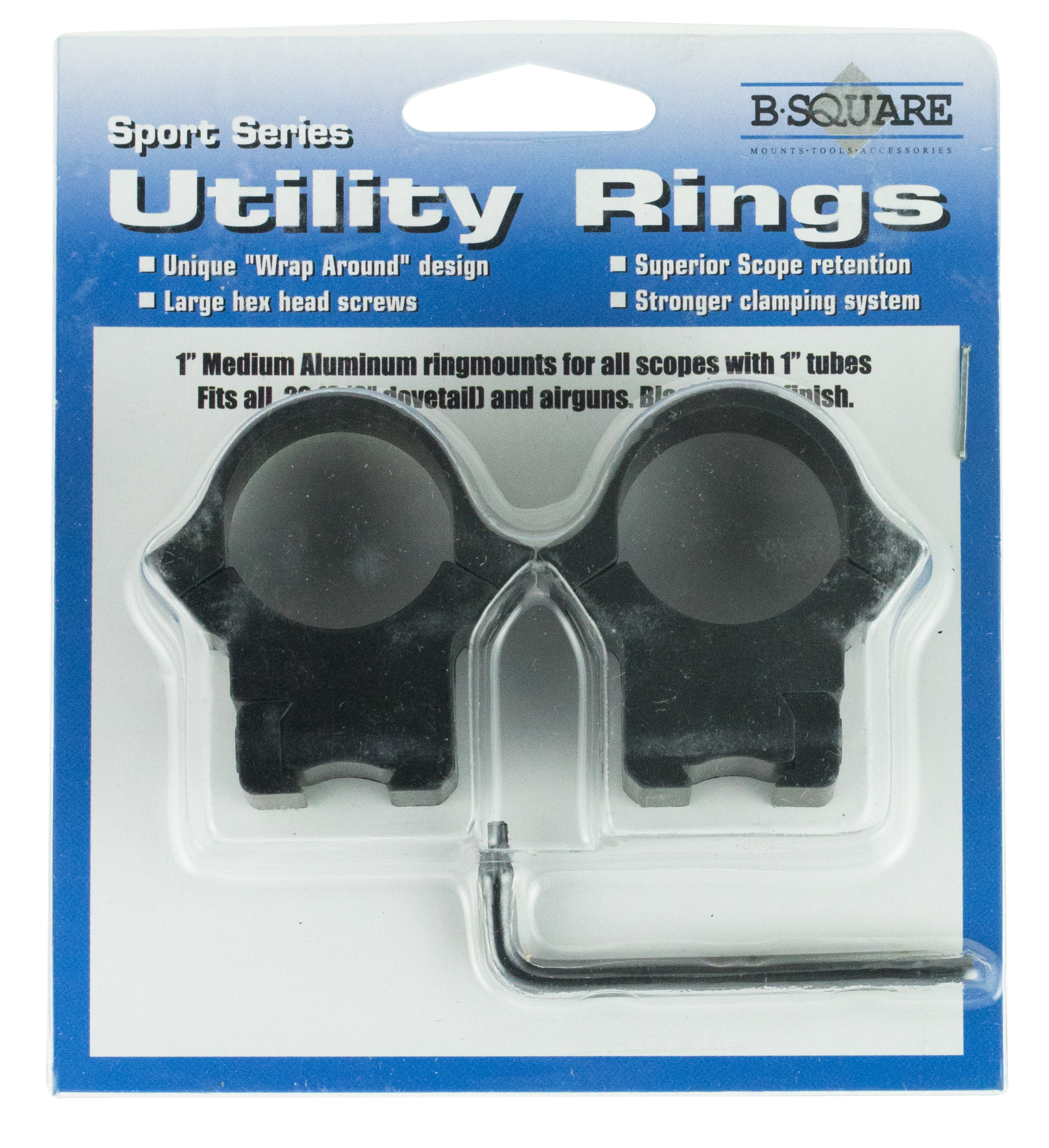 B-Square 27054 Sport Utility Dovetail for .22 and Airguns Ring Set 1