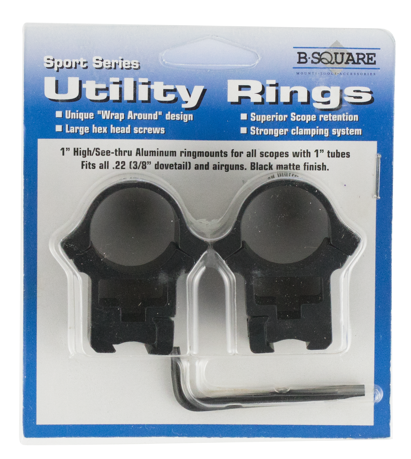B-Square 27056 Sport Utility Dovetail for .22 and Airguns Ring Set 1