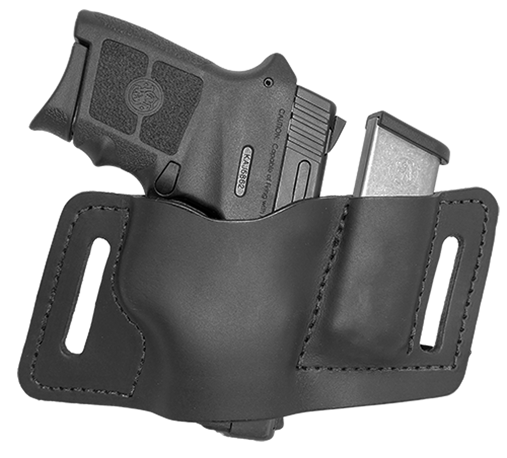 Versacarry WB380AMB2 QuickSlide with Mag Pouch  22/25 Autos, Very Small Frame 380s Water Buffalo Brown