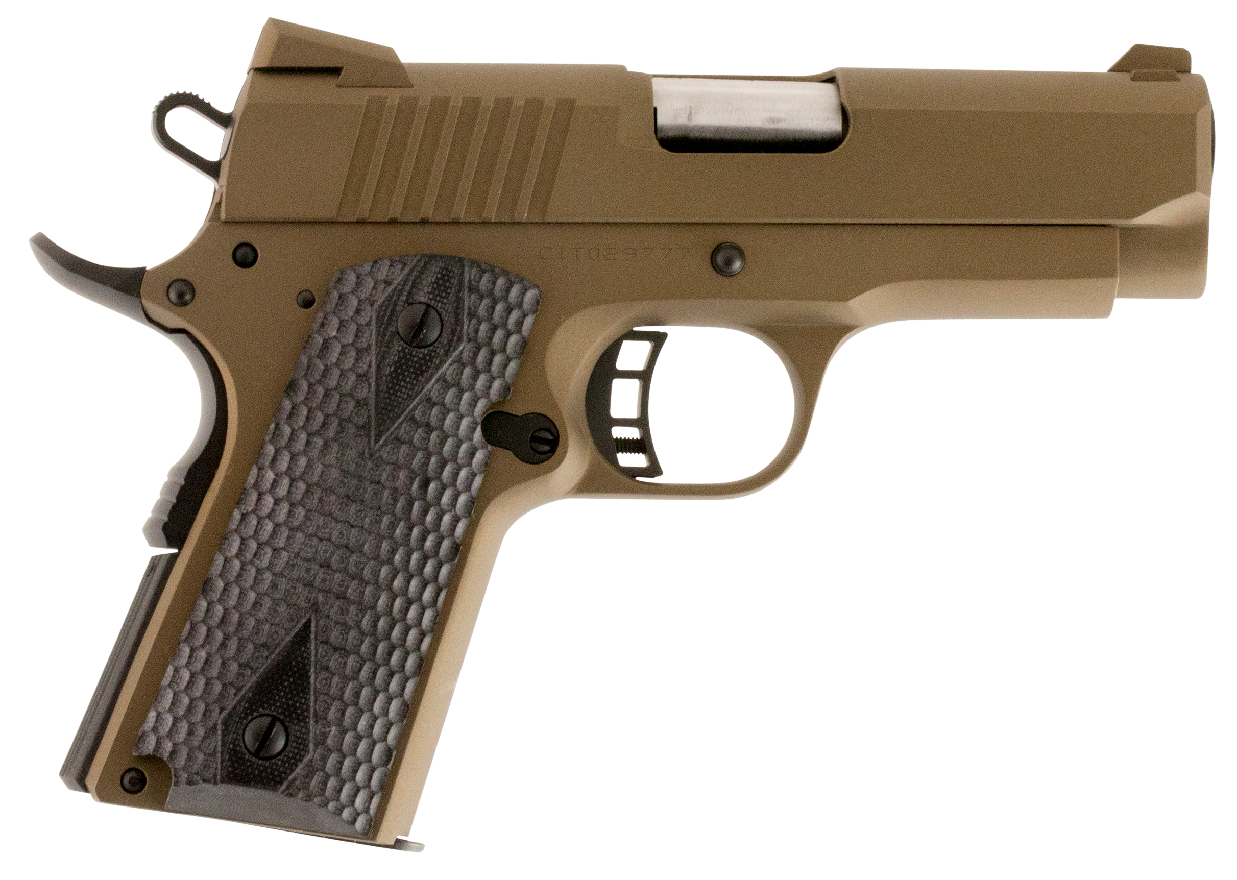 Citadel C9MMCS148H00 M-1911 Officer Compact SAO 9mm 3.5