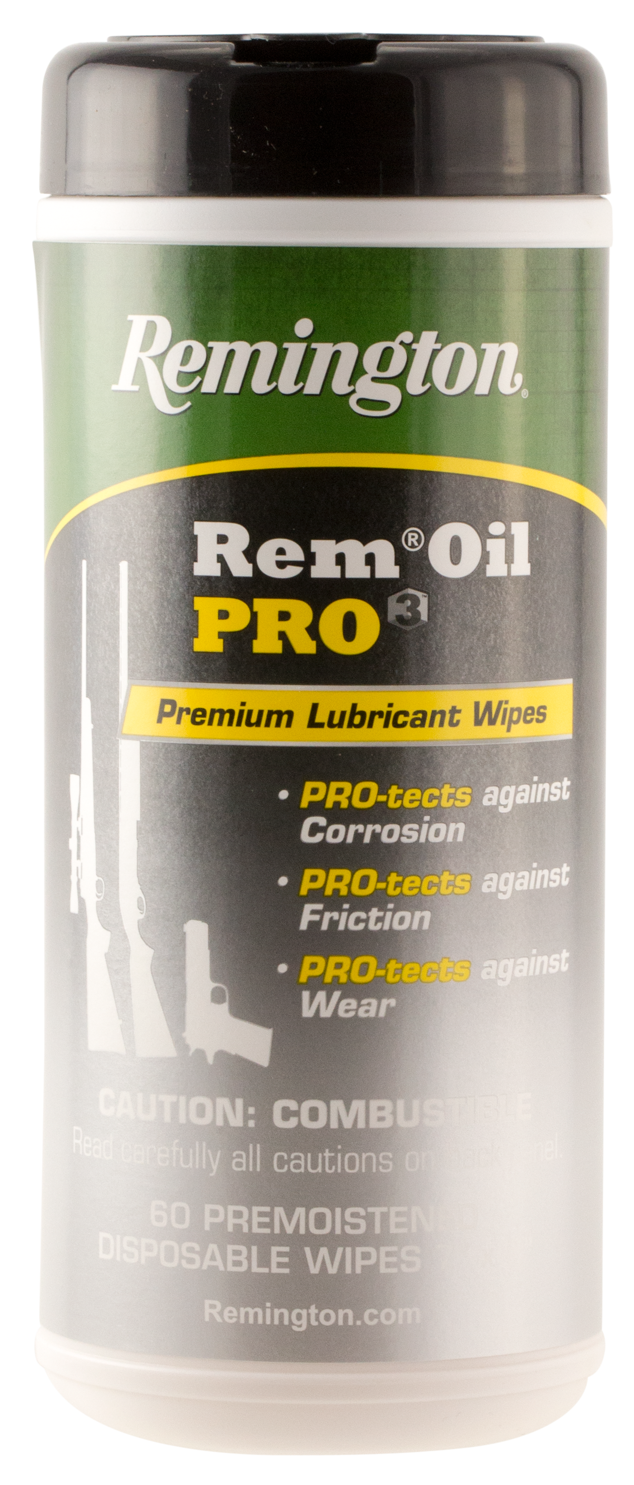 Remington Accessories 18922 Rem Oil Pro3 Lubricant Wipes 60 Count