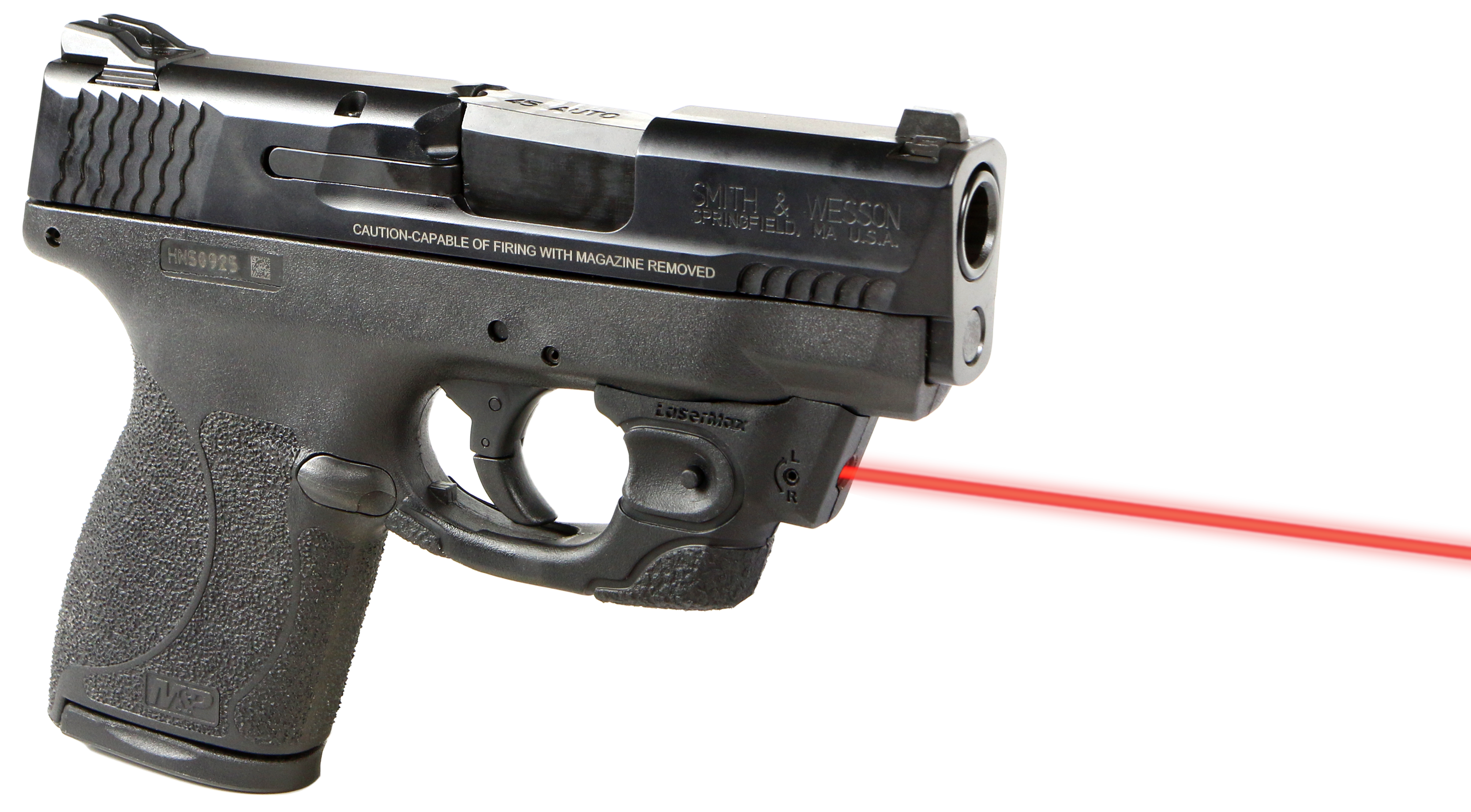 LaserMax CFSHIELD45 CenterFire S&W Shield Red Laser Under Barrel
