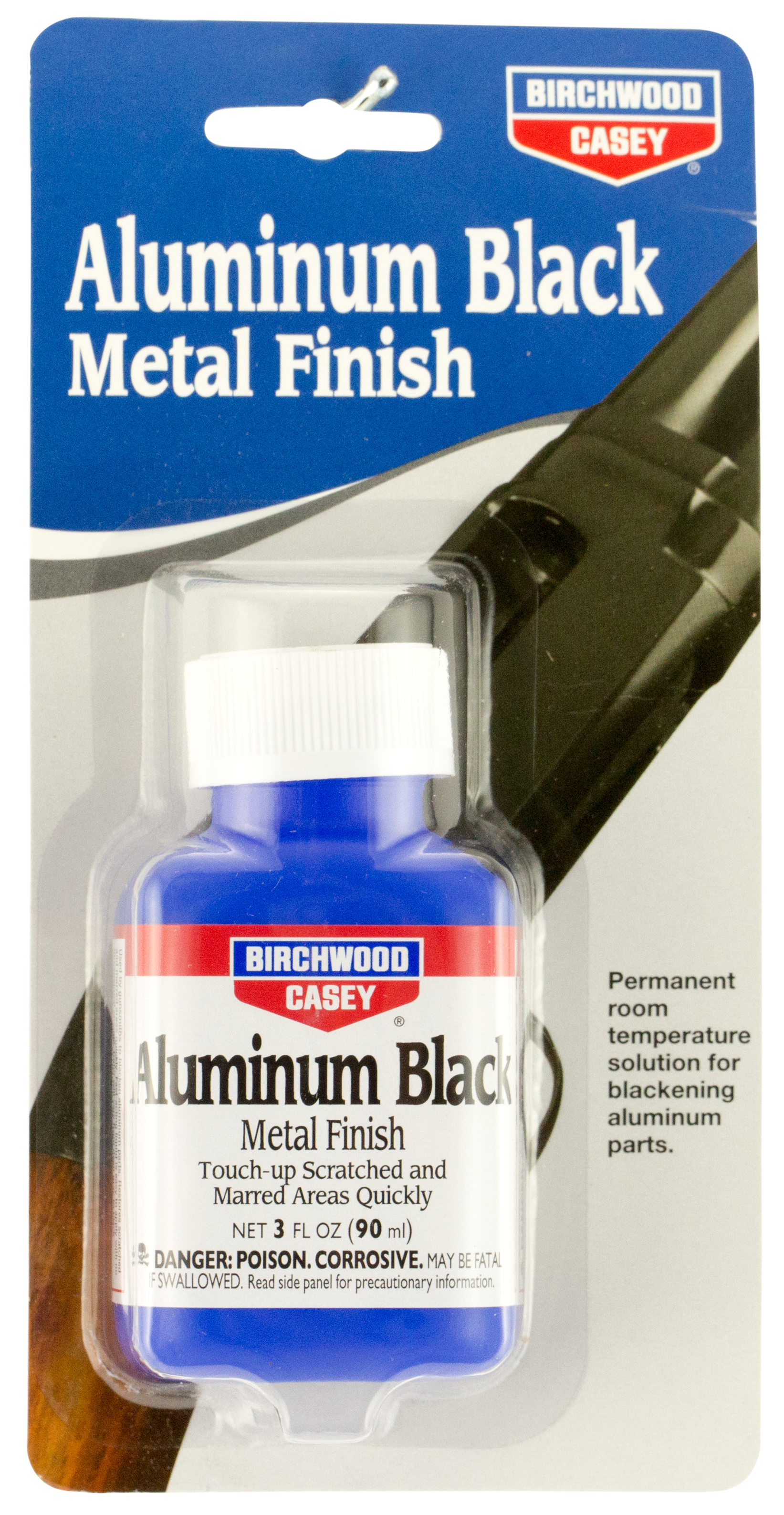 Birchwood Casey 15125 Aluminum Black Touch Up Black Metal Finish 3 oz