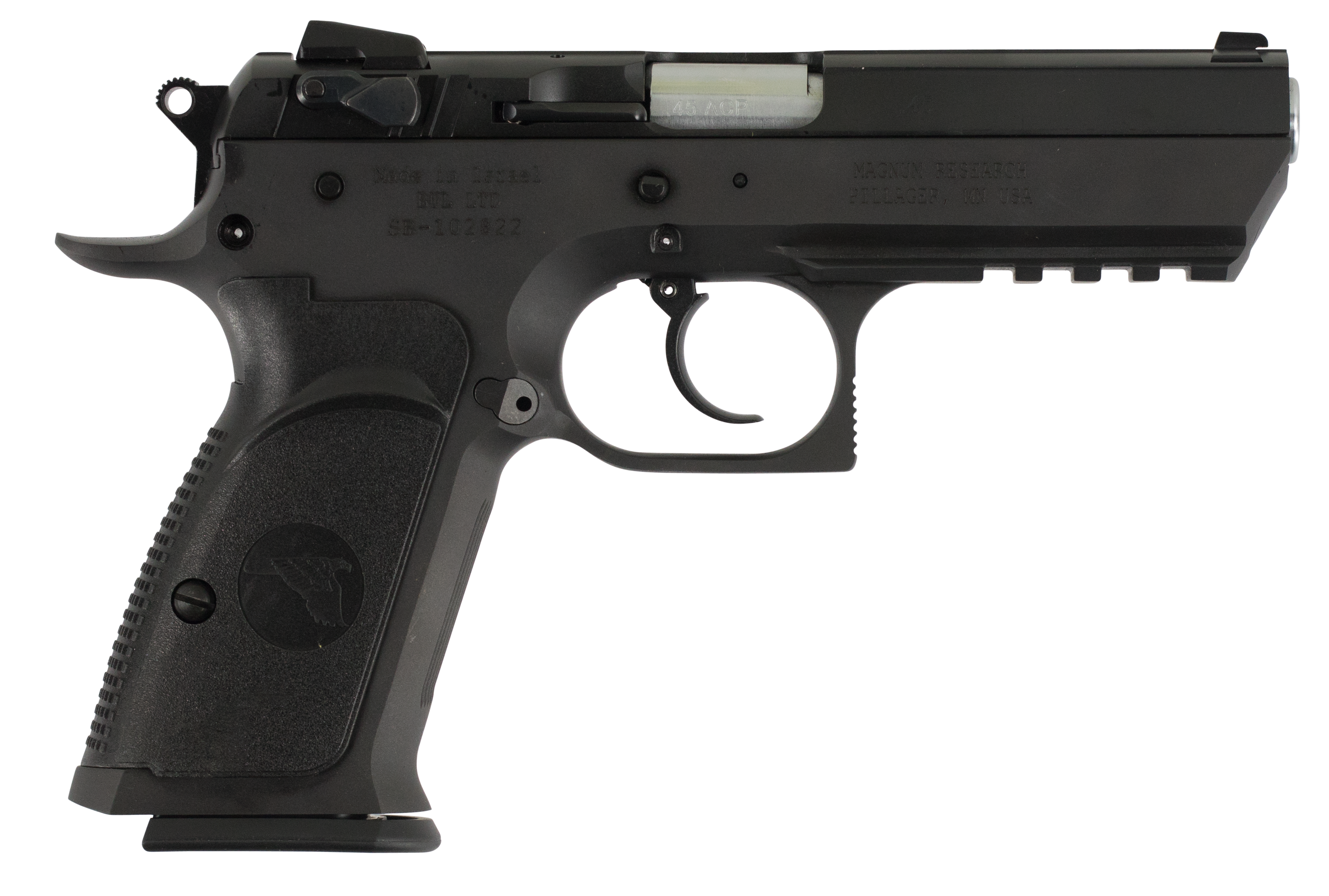 Magnum Research BE45003R Baby Desert Eagle III Single/Double 45 Automatic Colt Pistol (ACP) 4.43