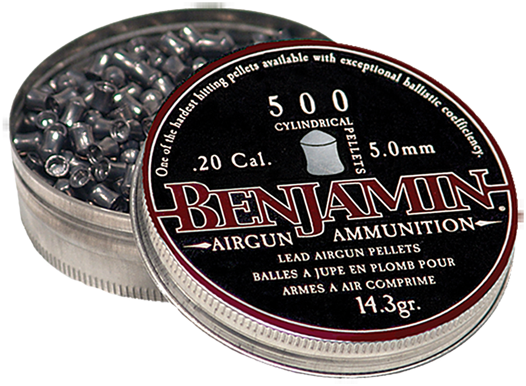 Benjamin P50 .20 (5mm) Cylinder Pellets Lead 500 Count