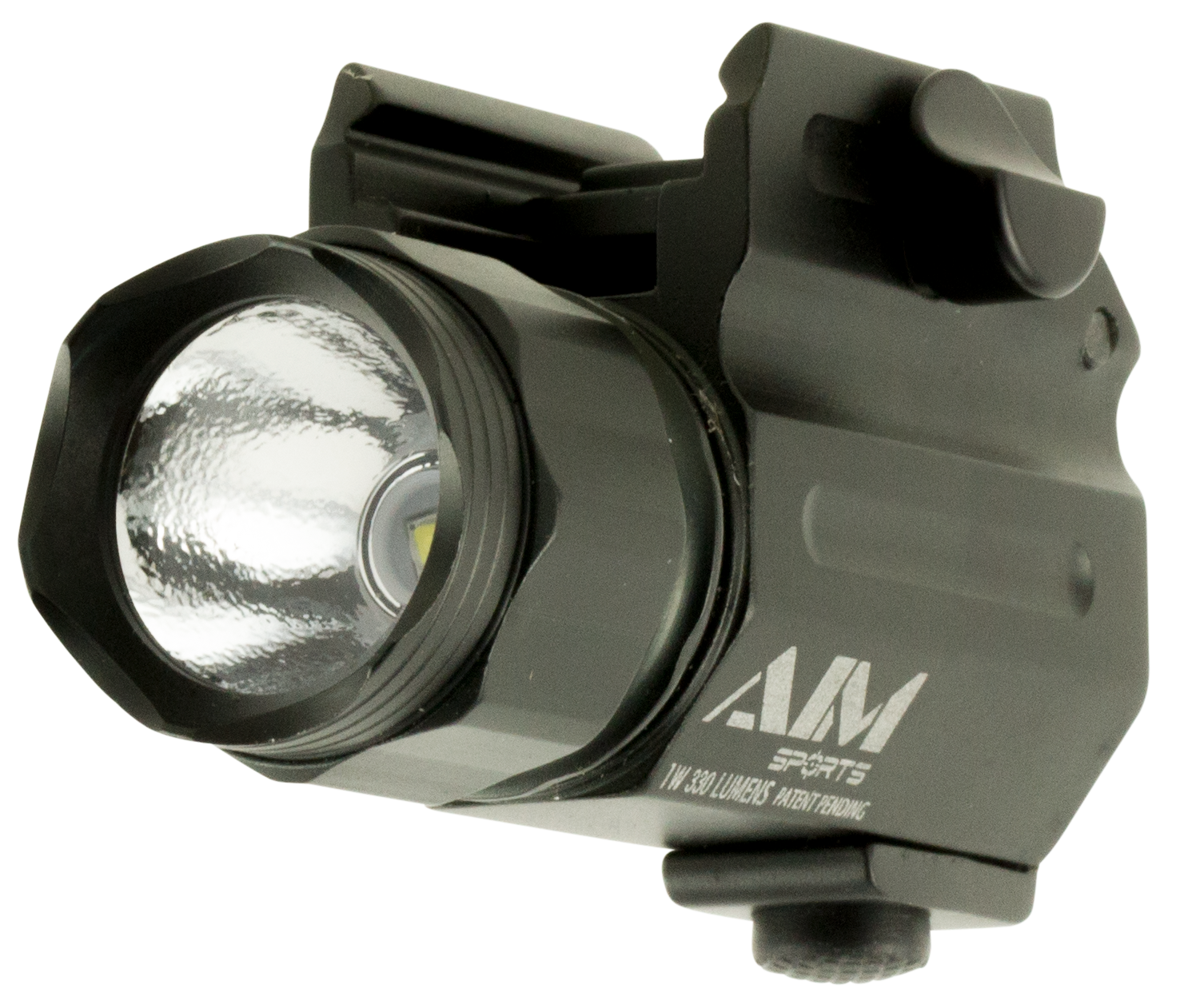 Aim Sports FQ330C Compact Flashlight 330 Lumens CR123 (2) Black
