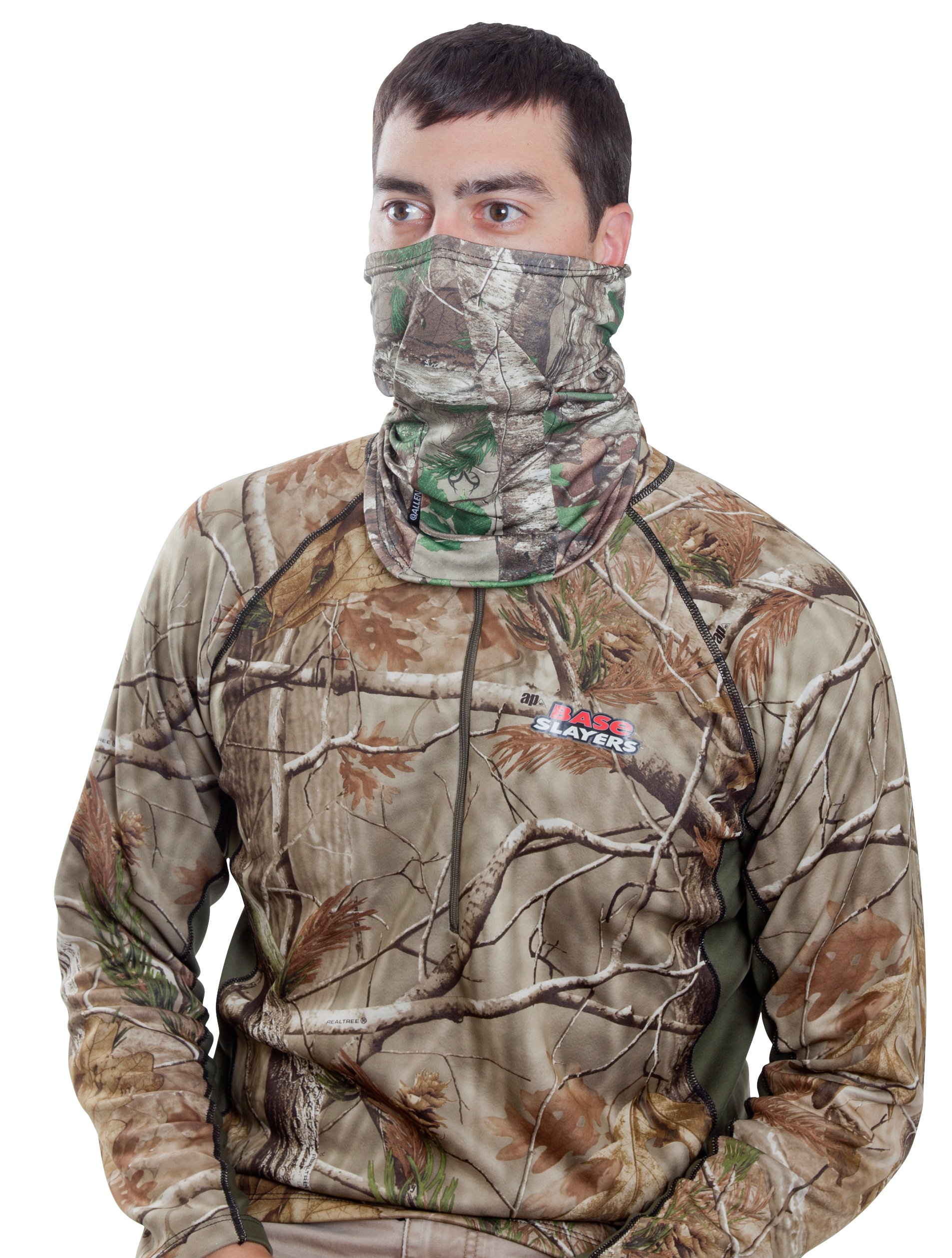 Allen 17484 Balaclava Face Mask Adjustable Face  One Size Fits Most Realtree Xtra Green