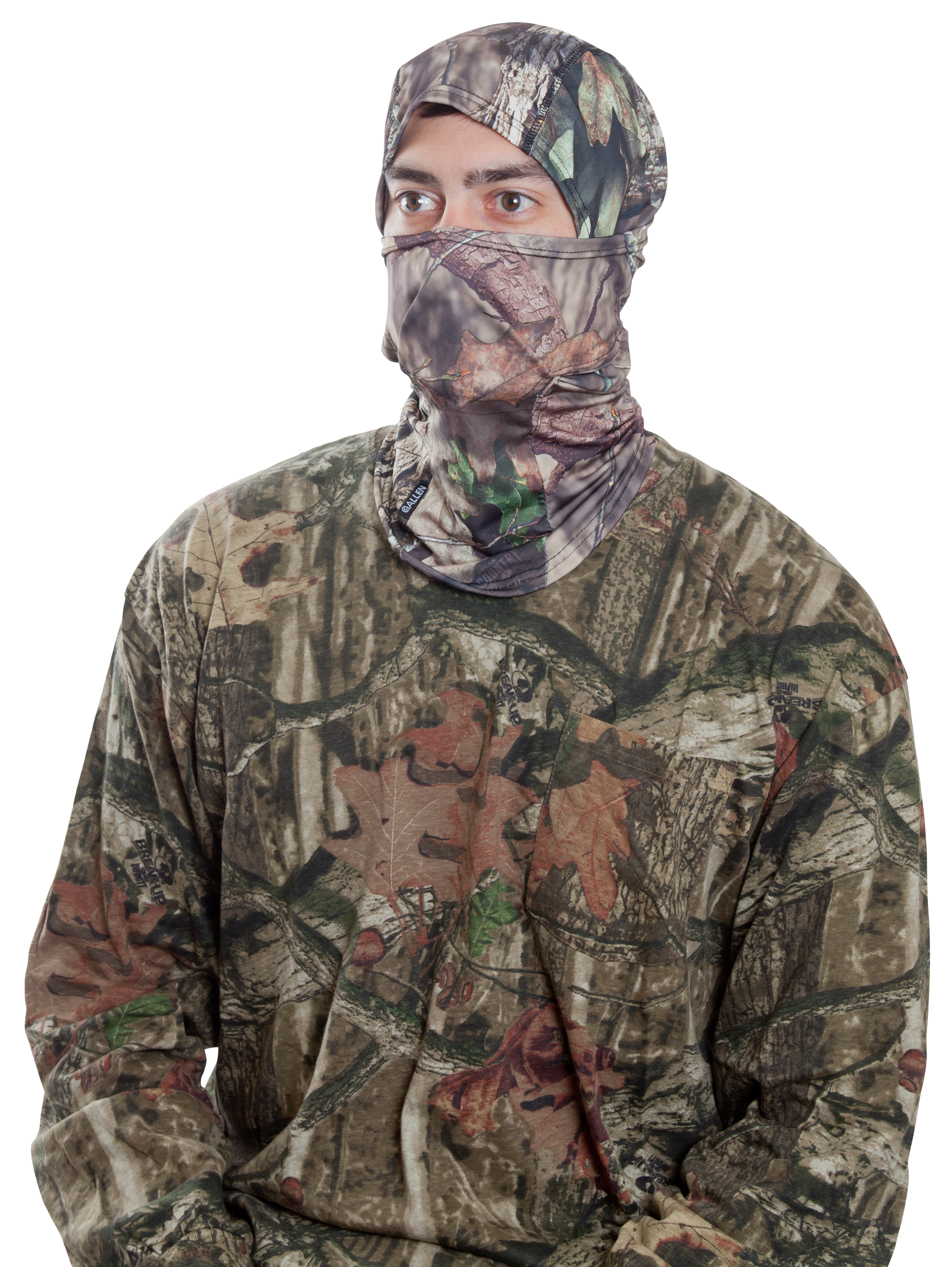 Allen 17483 Balaclava Face Mask Adjustable Face  One Size Fits Most Mossy Oak Break-Up Country