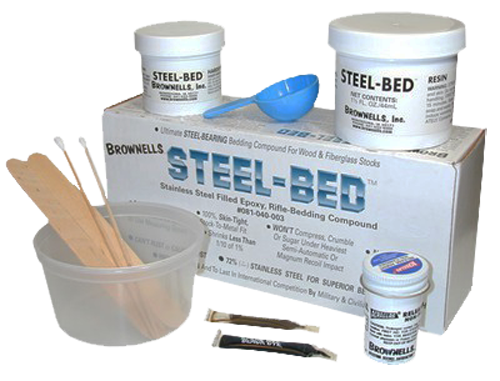 Brownells 081040003 Steel Bed Kit Steel Bed Kit 9 Piece