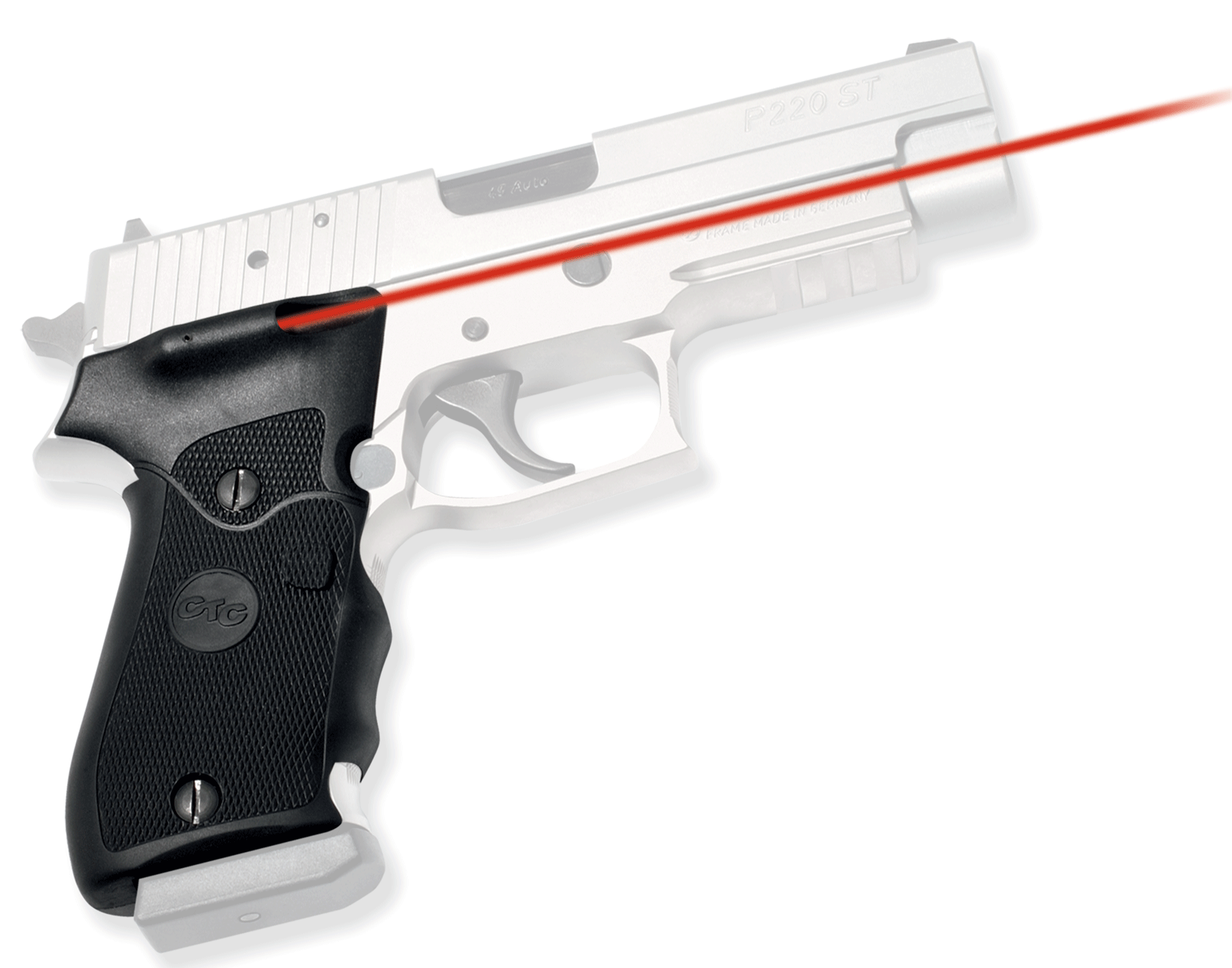 Crimson Trace LG320 Lasergrips Red Laser Sig 220 Front Activation Blk