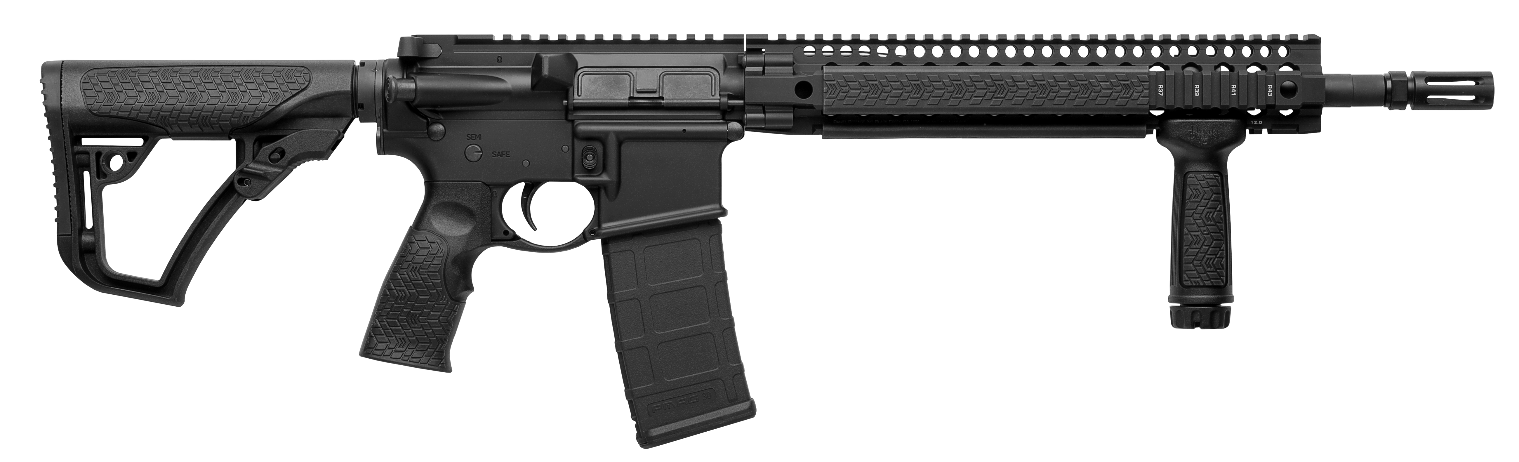 Daniel Defense 02049047 DDM4 V5S Semi-Automatic 223 Remington/5.56 NATO 14.5