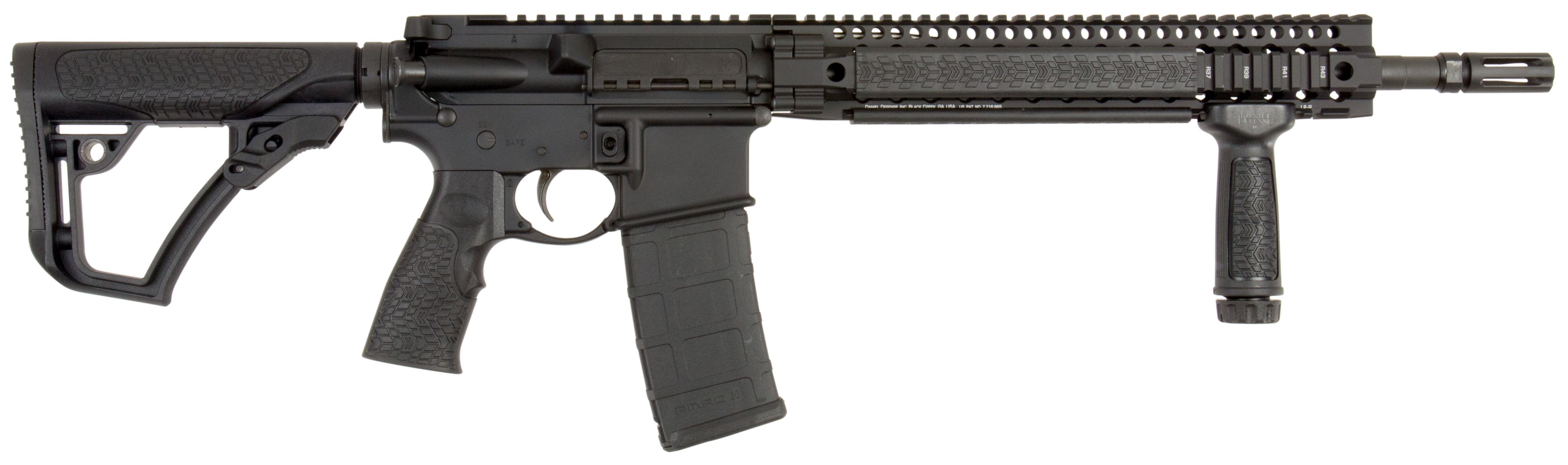 Daniel Defense 02049055 DDM4 V5S *CA Compliant* Semi-Automatic 223 Remington/5.56 NATO 14.5