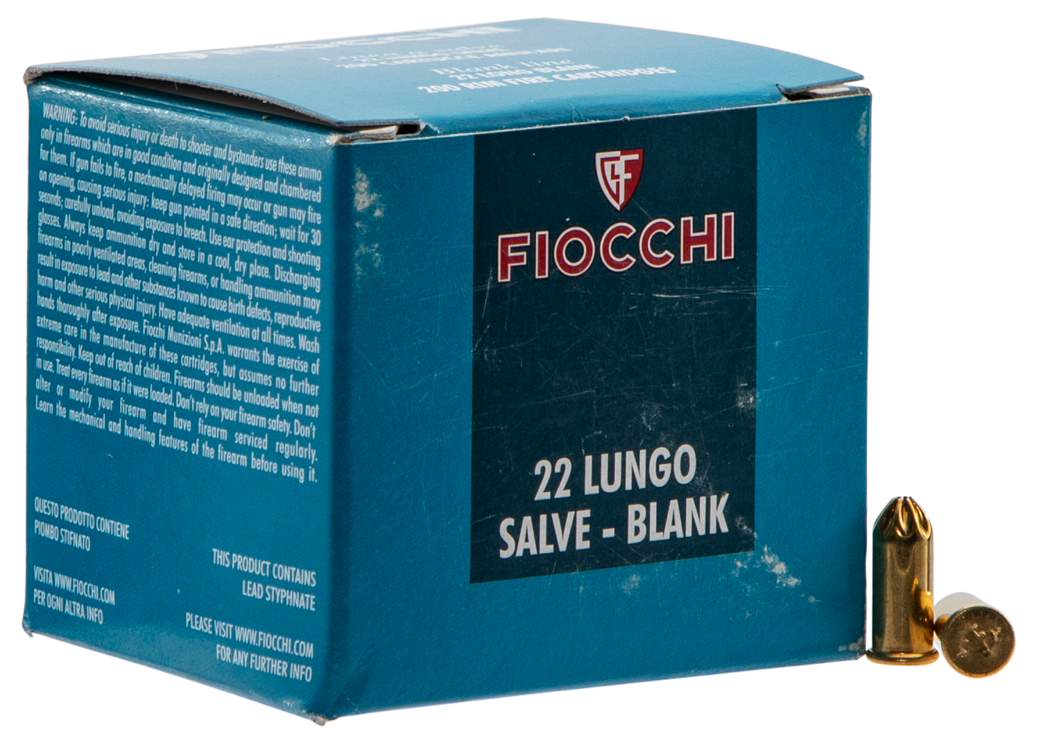 Fiocchi 22LRBL Handgun Blank 22 Long Rifle (LR)  200 Bx/ 30 Cs