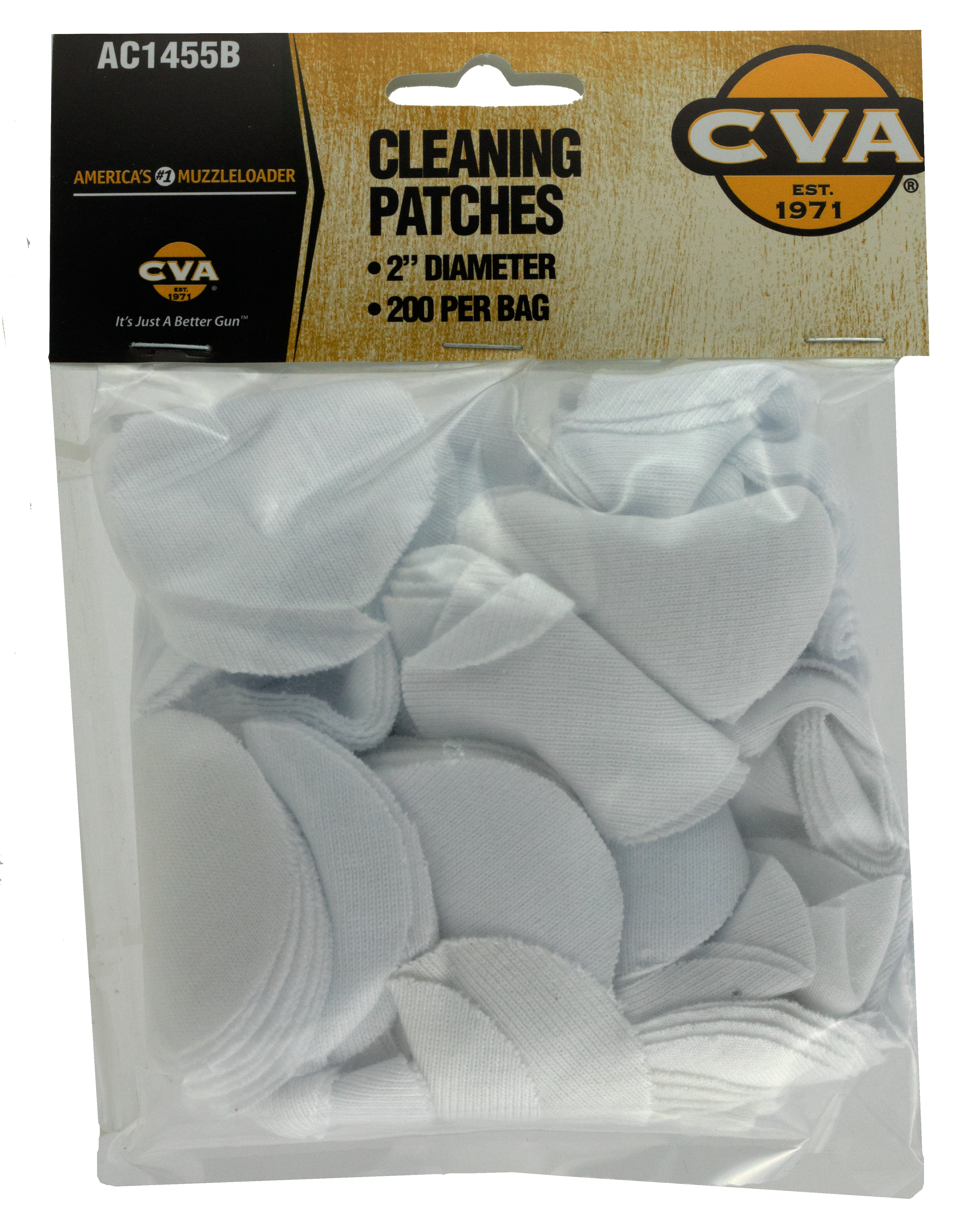 CVA AC1455B Cleaning Patches 2-inch Cleaning Patches 2
