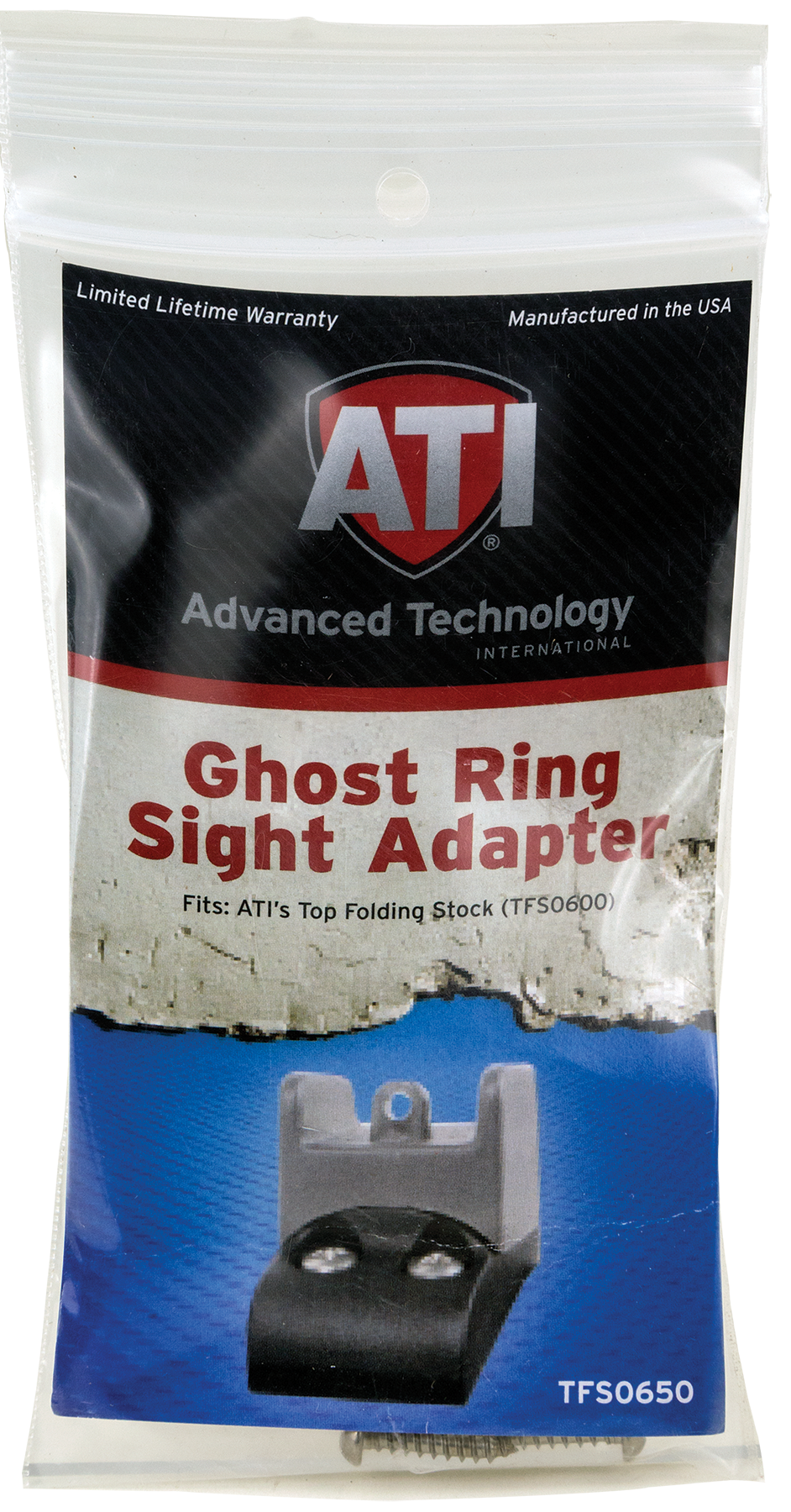 Advanced Technology TFS0650 Ghost Ring Sight Adapter Fits ADV Top Folding Stocks