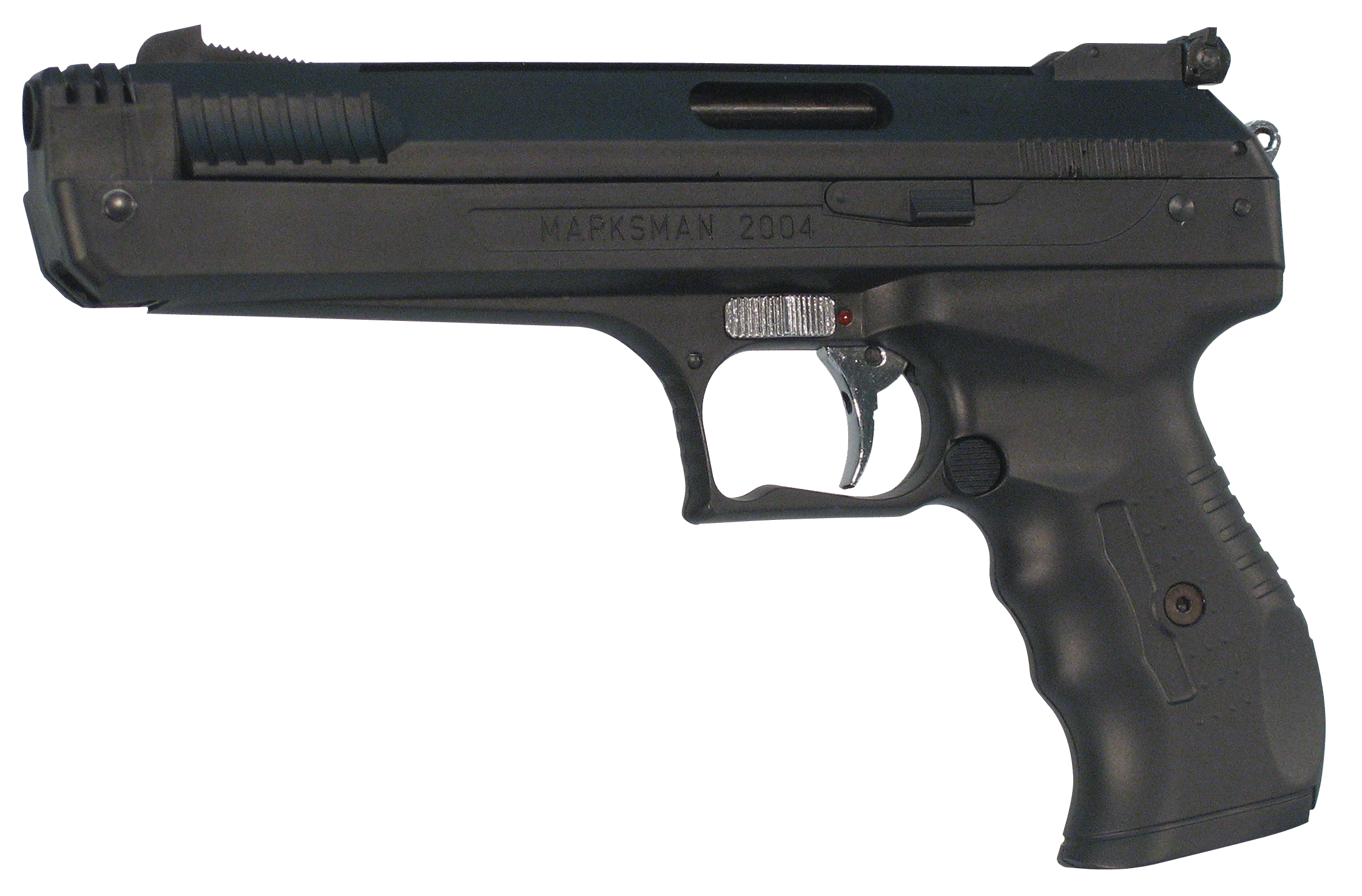 Beeman 2004 Deluxe Air Pistol .177 Pellet Post Front/Adj Rear Syn Grip/Frame Black
