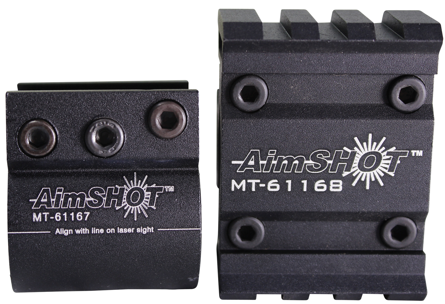 Aimshot KT61169 Weaver Style Barrel Laser Mount Matte Black Finish