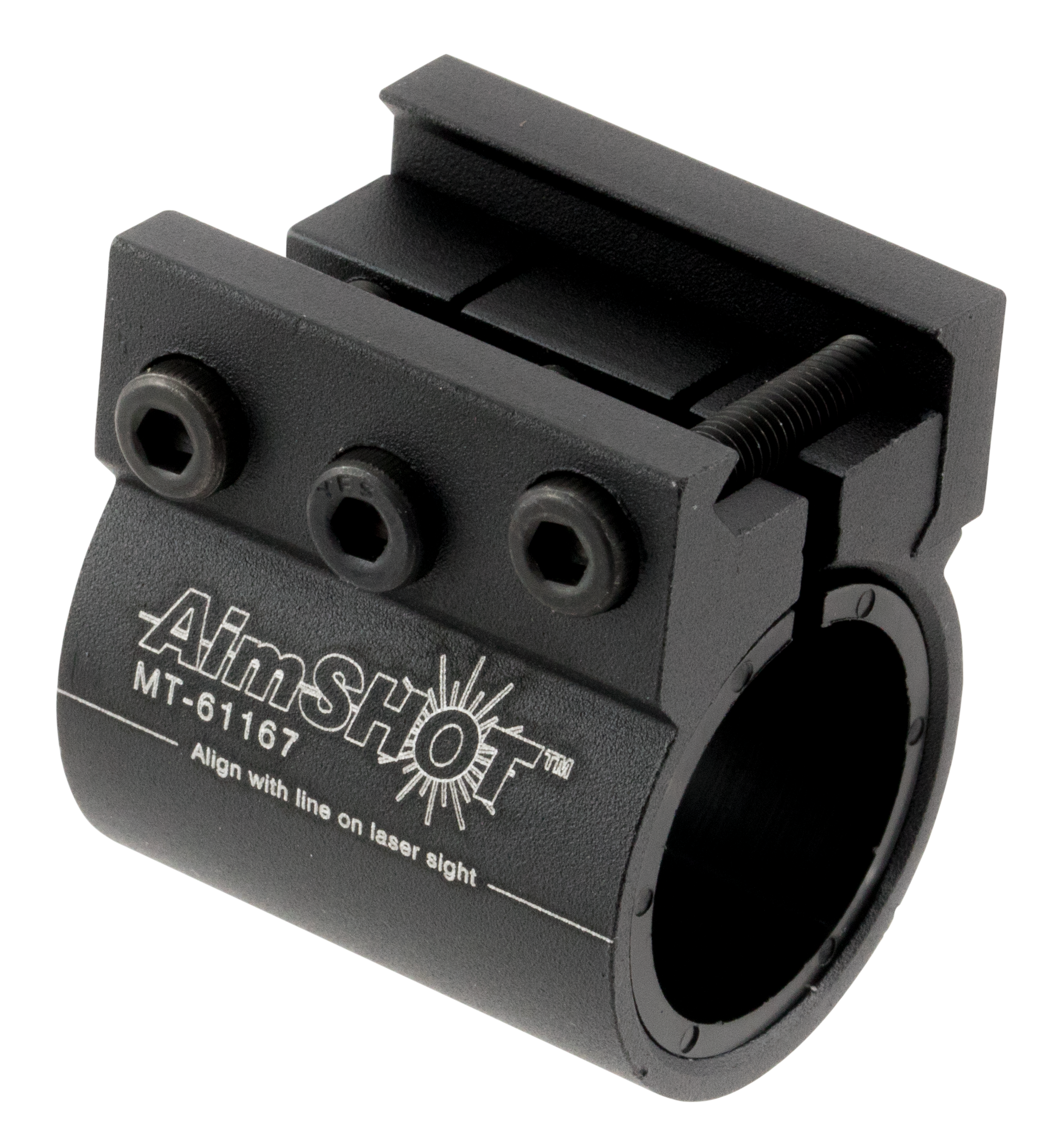 Aimshot MT61167 Laser Mount For 8067 Weaver Style Matte Black Finish