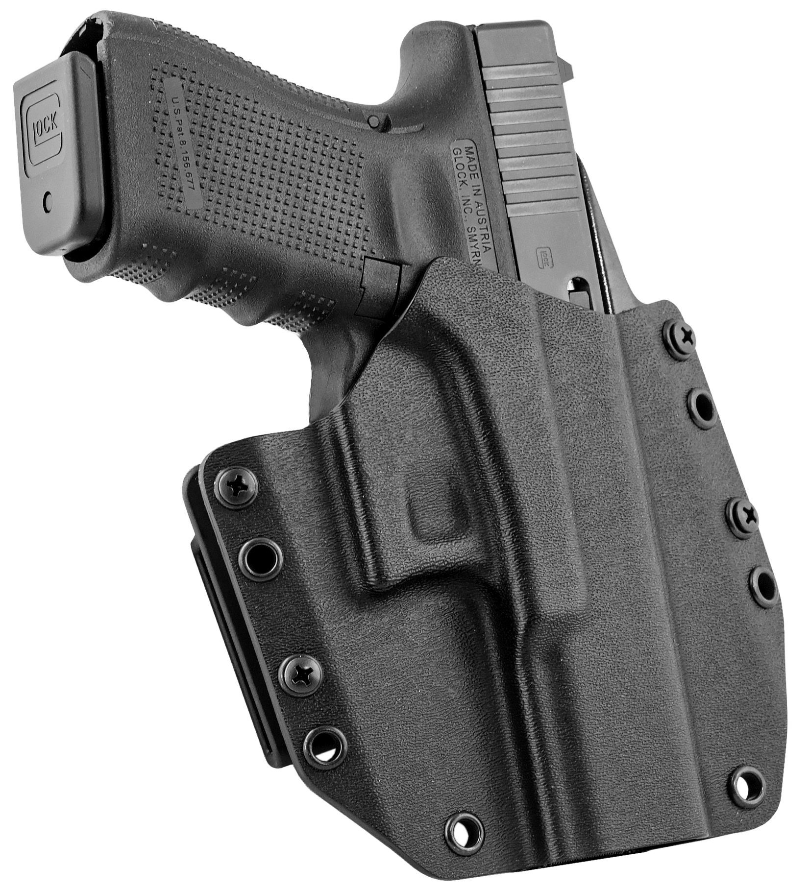 Mission First Tactical HGL19OWBBL MFT OWB  Glock 19/23 Kydex Black