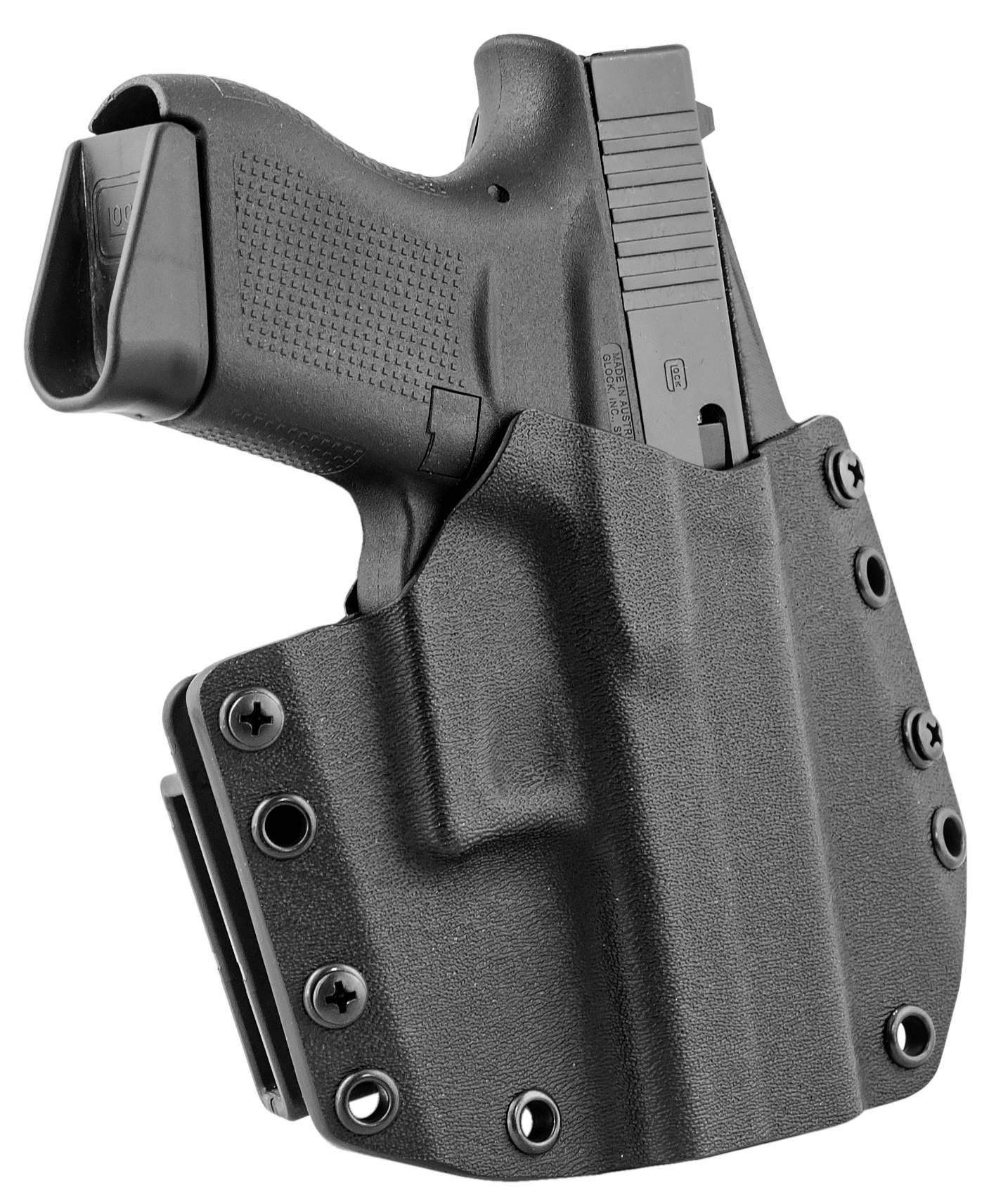 Mission First Tactical HGL43OWBBL MFT OWB  Glock 43 Kydex Black