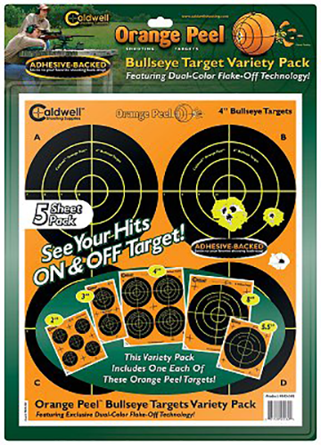 Caldwell 410-864 Orange Peel Targets Bullseye 4