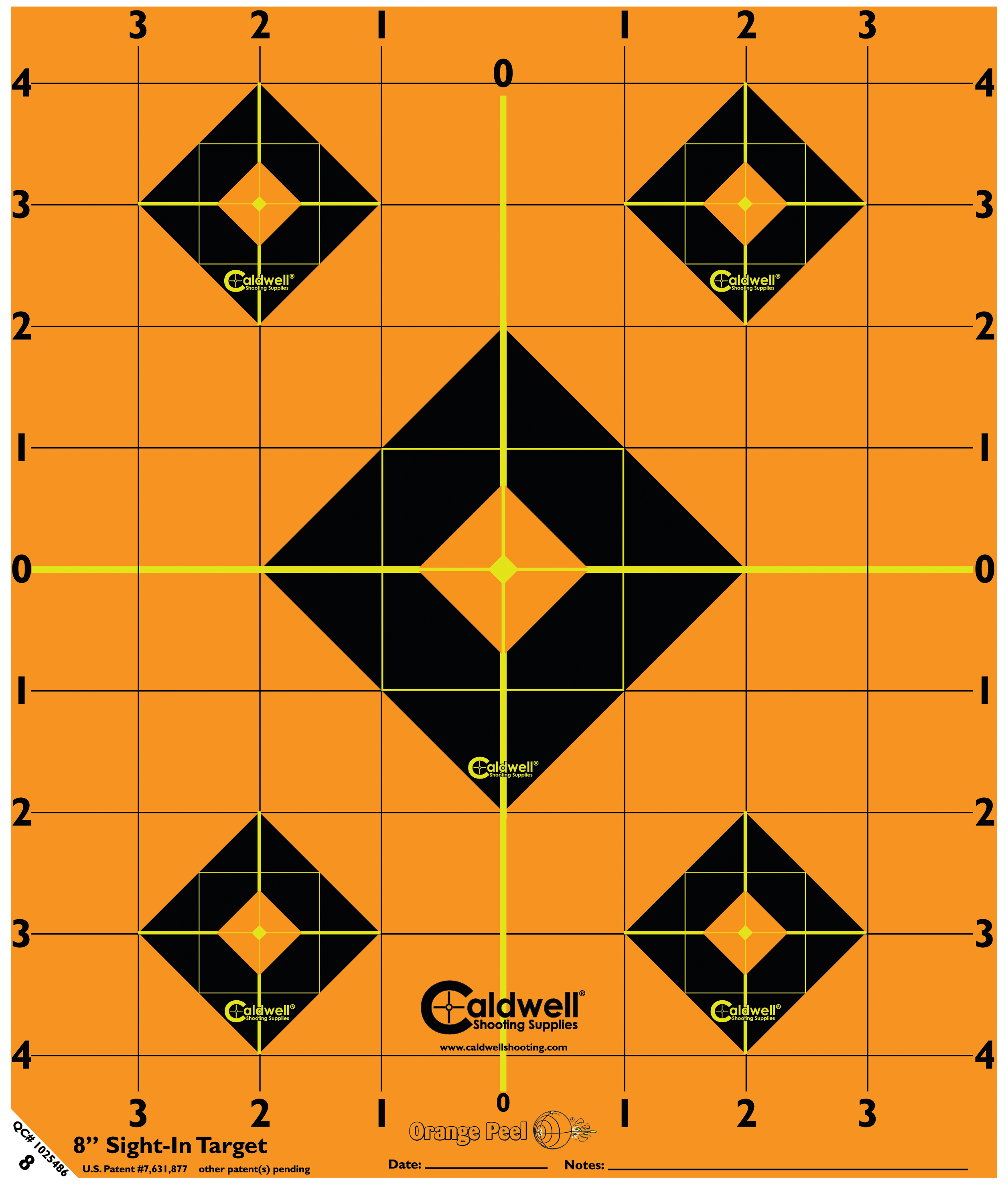 Caldwell 522-357 Orange Peel Targets Sight-In 8