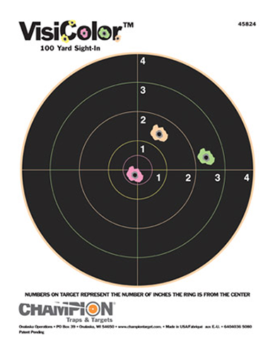 Champion Targets 45824 VisiColor Interactive Paper Target 8