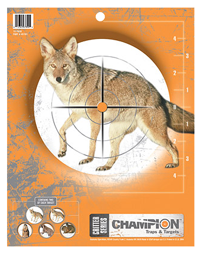 Champion Targets 45781 Critter Paper Targets 10 Pack