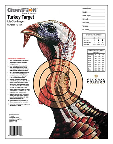 Champion Targets 45780 Life Size Turkey Target 12 Pack