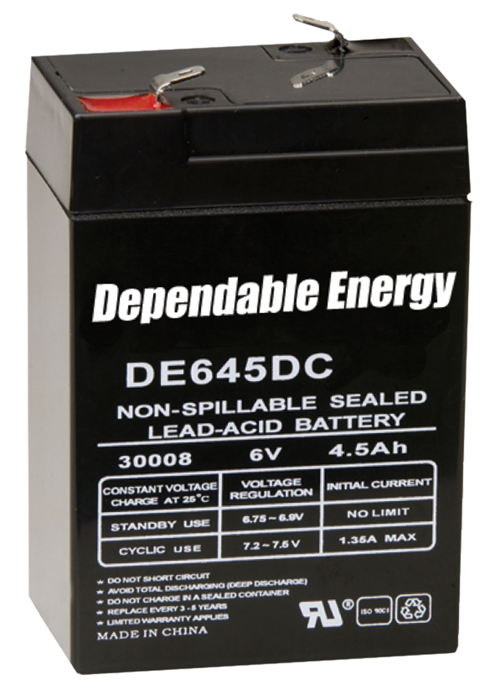 American Hunter DE30052 HR Rechargeable Battery 6V 4.5 AMP