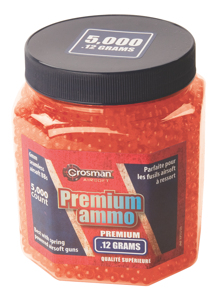 Crosman SAP5KRG Airsoft Ammunition  .12 Grams Orange 5000 ct.