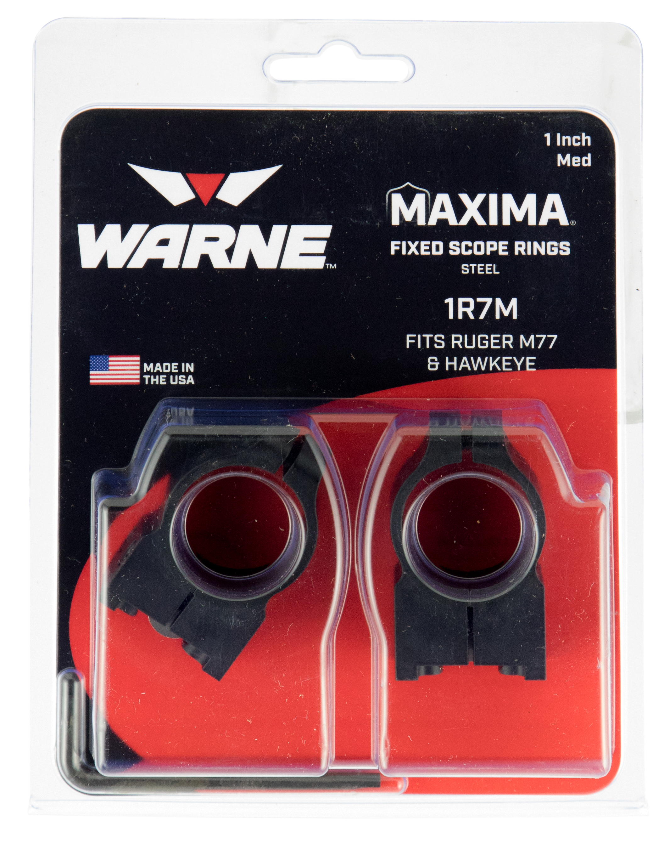 Warne 1R7M Ruger Ring Set 1