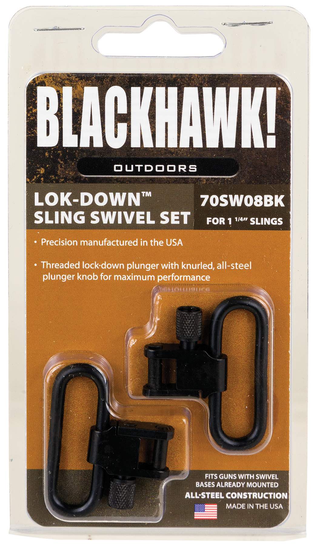 Blackhawk 70SW08BK Lok-Down Swivel Set 1.25