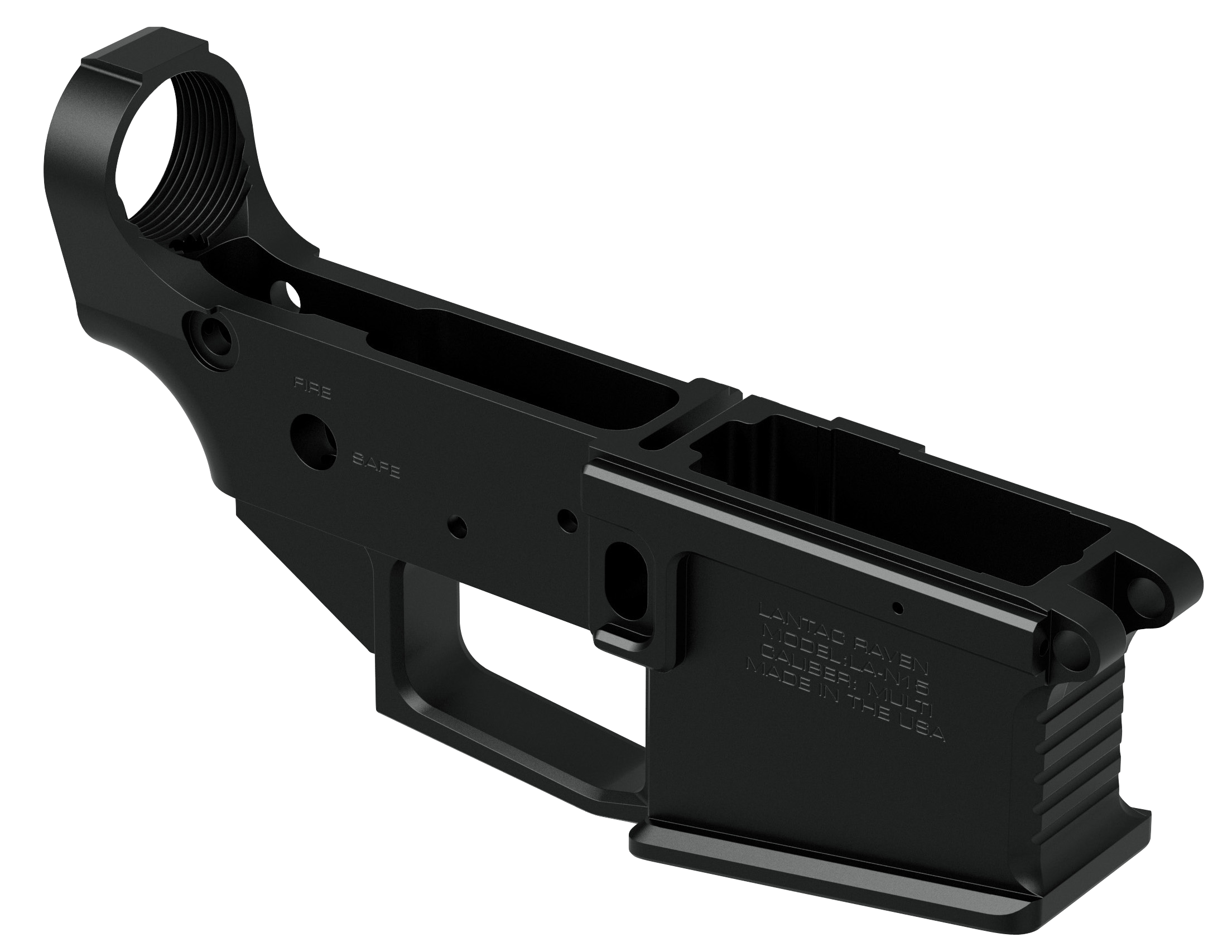 Lantac LA00267 Raven N15 Lower AR Platform Multi-Caliber Black Hardcoat Anodized