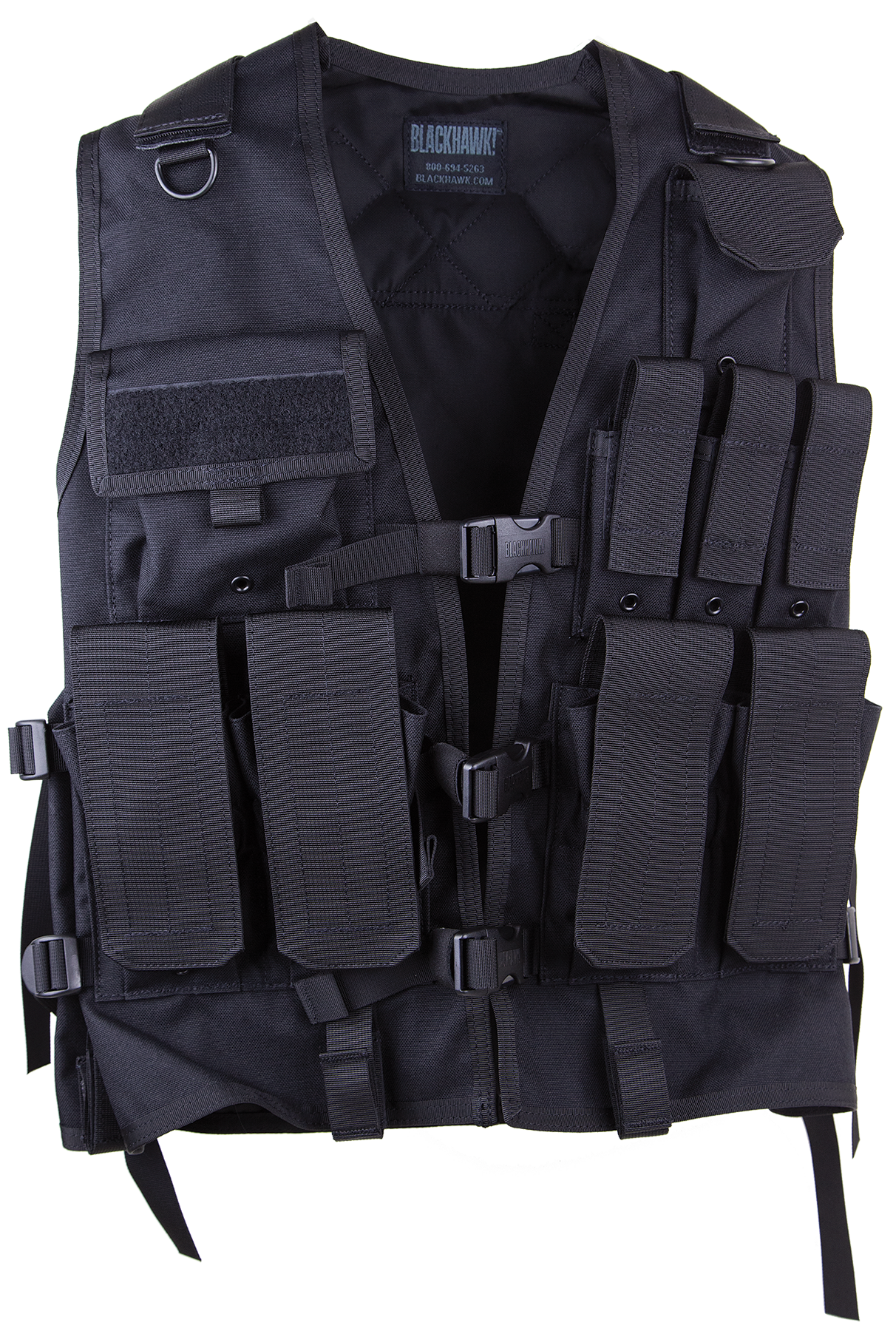 Blackhawk 33UA00BK Urban Assault Vest Black Adjustable Nylon