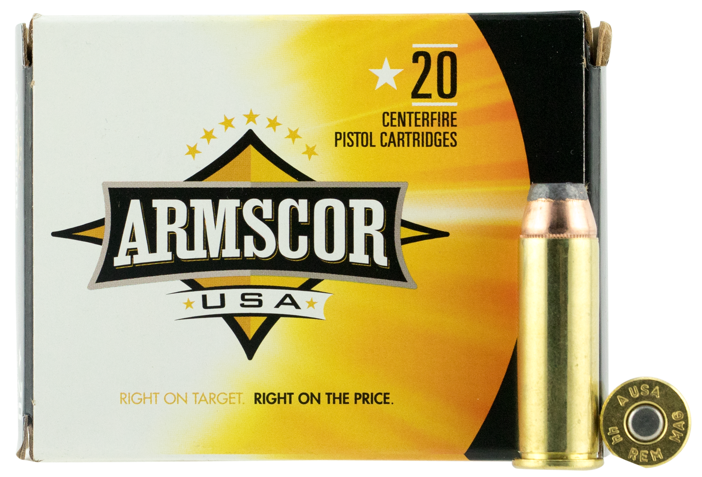 Armscor FAC44M2N 44 Remington Magnum 240 GR Jacketed Hollow Point 20 Bx/ 25 Cs