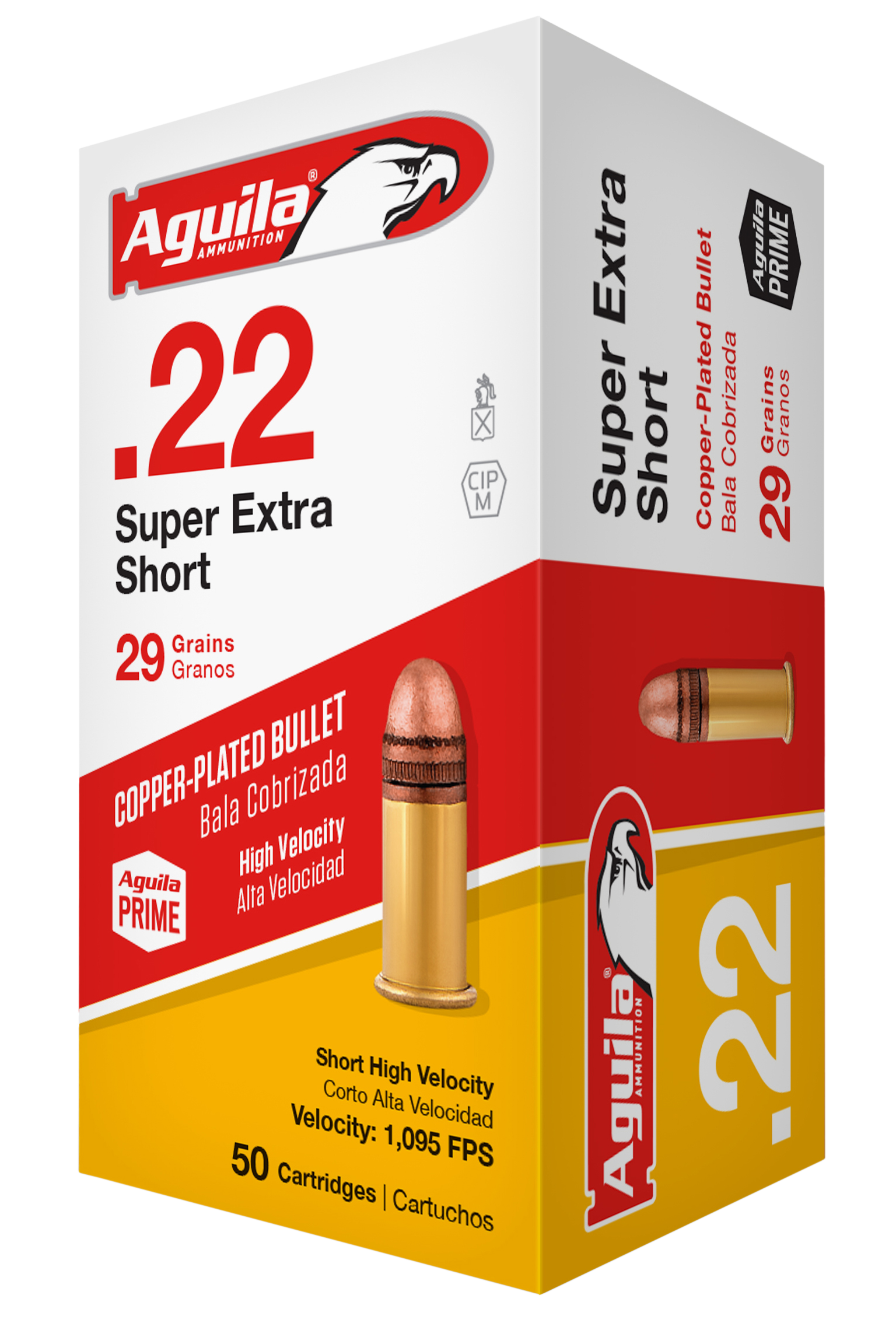 Aguila 1B222110 Standard High Velocity 22 Short 29 GR Solid Point 50 Bx/100 Cs
