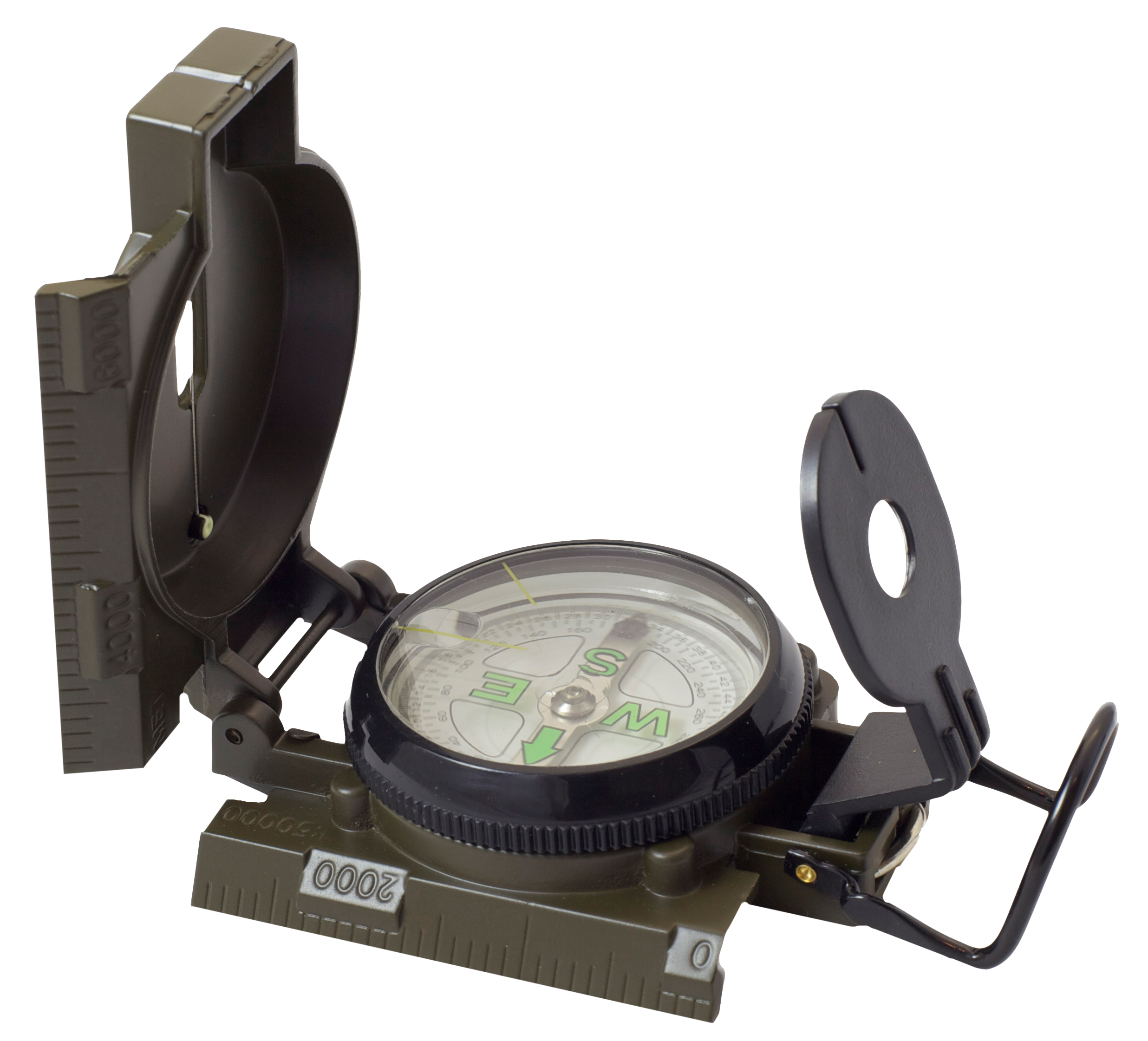 Humvee Accessories HMVCOMPASSOD Military Compass Black