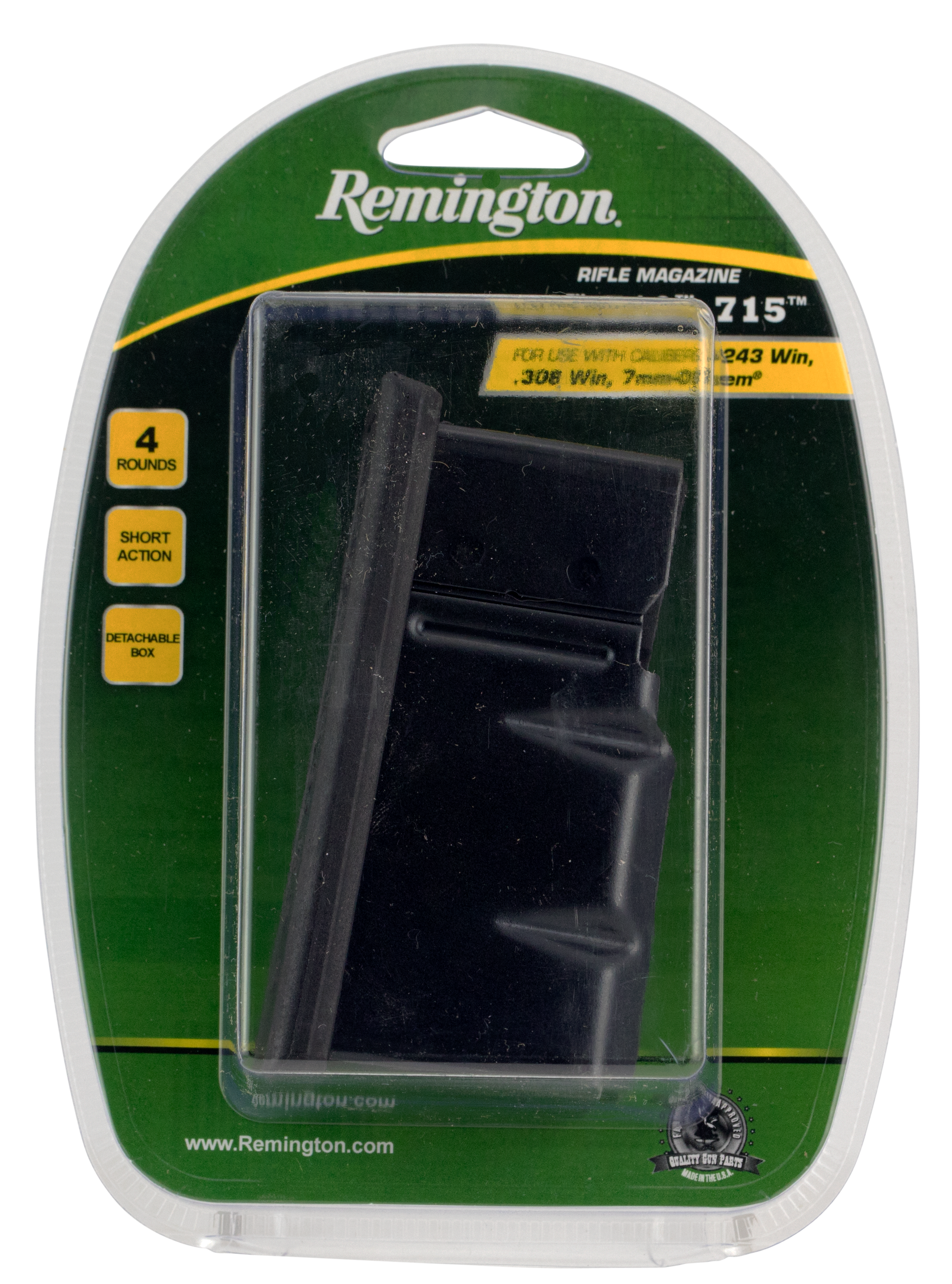 Remington 19633 710/770 243 Win/308 Win/7mm-08 Rem 4 rd Black Finish