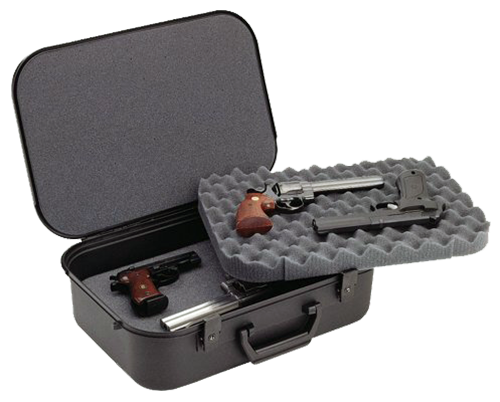 Plano 10089 Gun Guard XLT Four Pistol Case w/Key-Lock Latches Textured Poly Blk