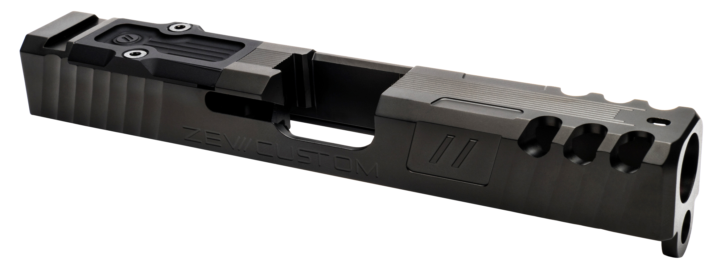 ZEV SLDZ193GSPAR Spartan RMR Slide compatible with Glock 19 Gen3 17-4 Stainless Steel Black DLC