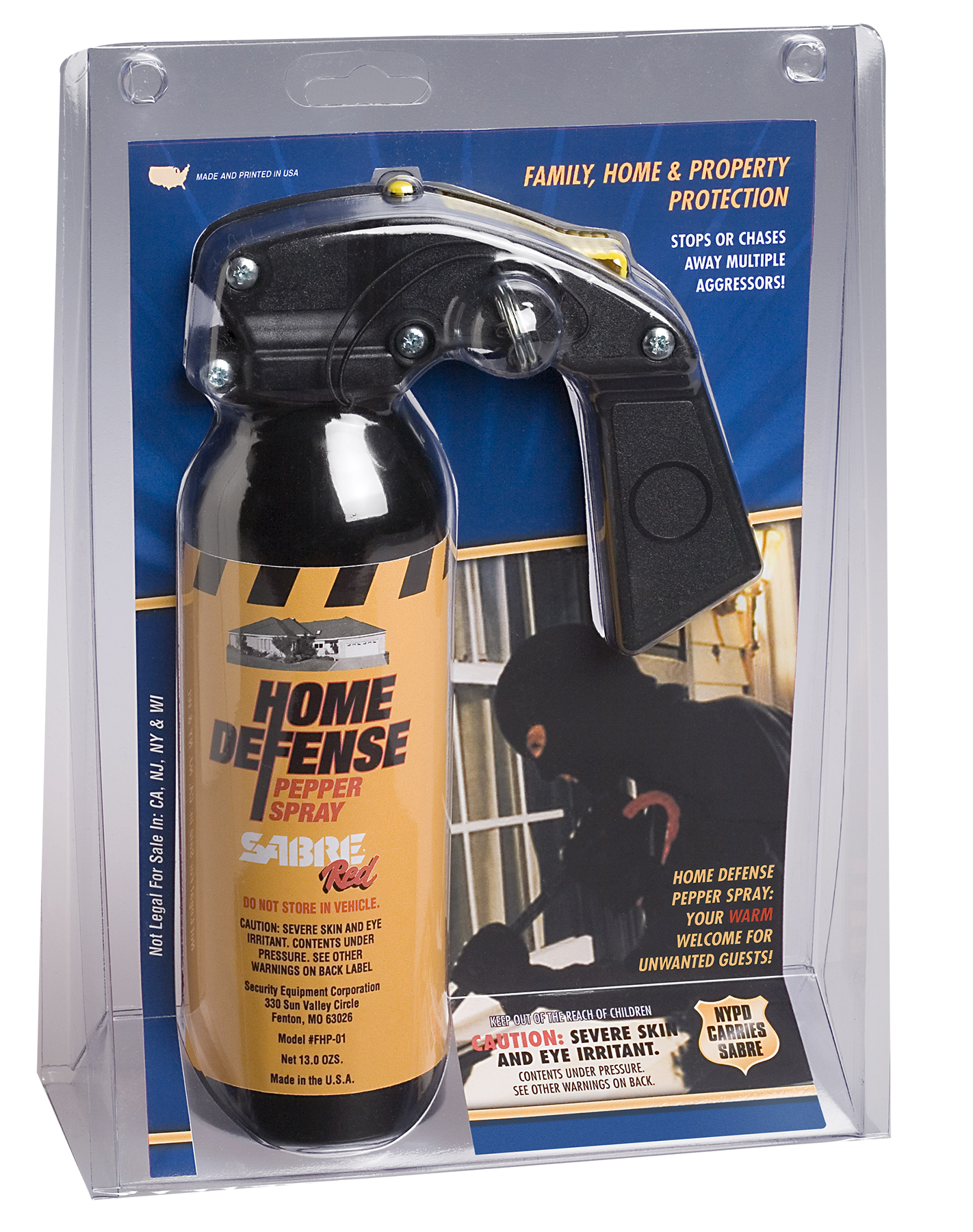 Sabre FHP01 Home Defense Pepper Spray 13 oz 13 oz 25 Feet