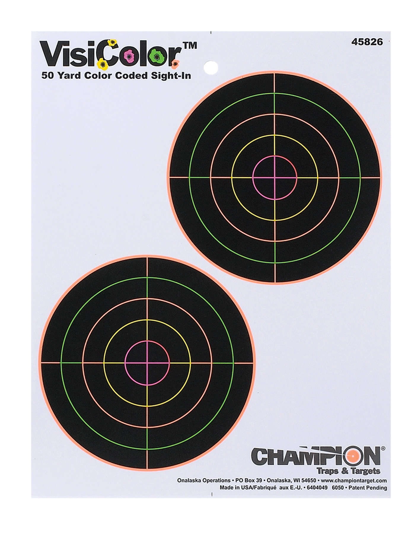Champion Targets 45826  VisiColor Interactive Paper Target 2-5